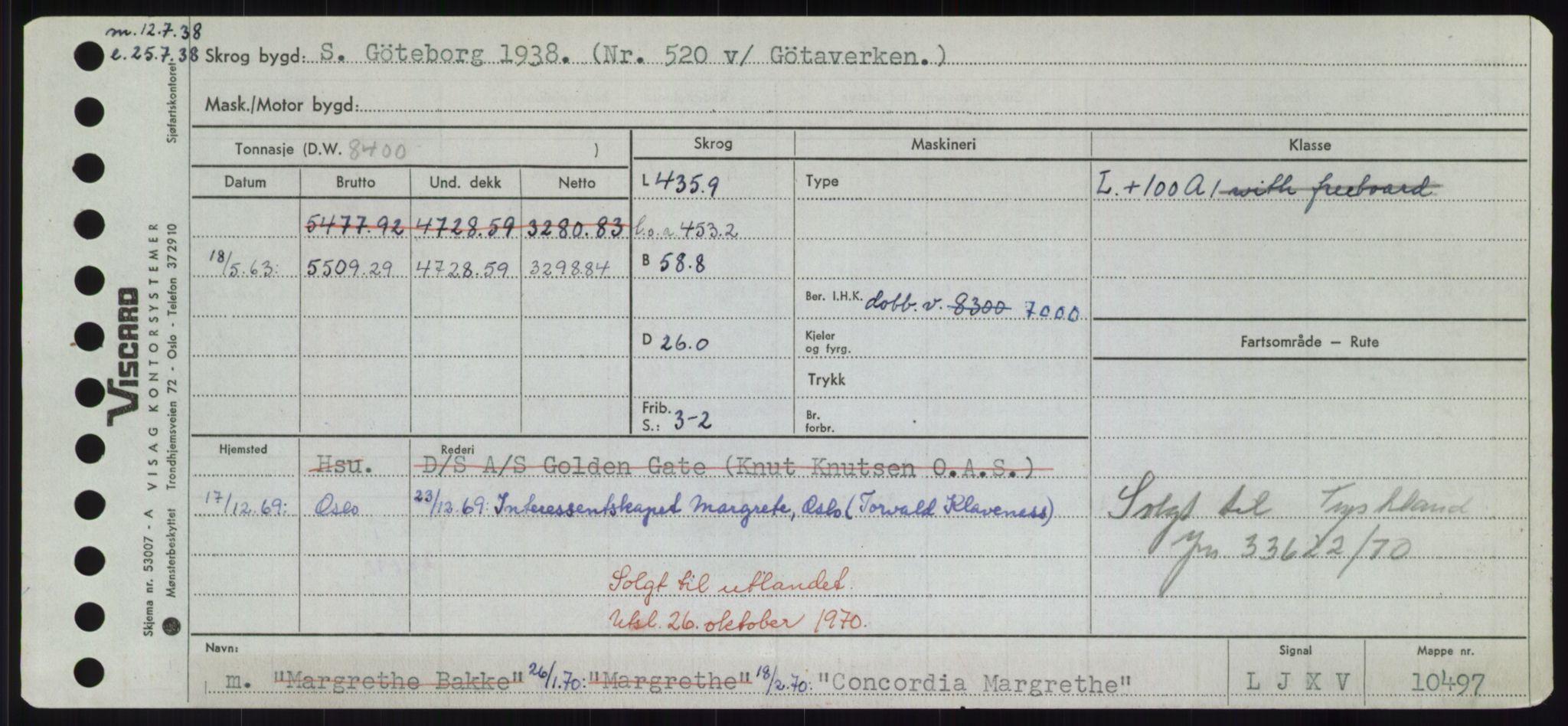RA, Sjøfartsdirektoratet med forløpere, Skipsmålingen, H/Hd/L0008: Fartøy, C-D, s. 165