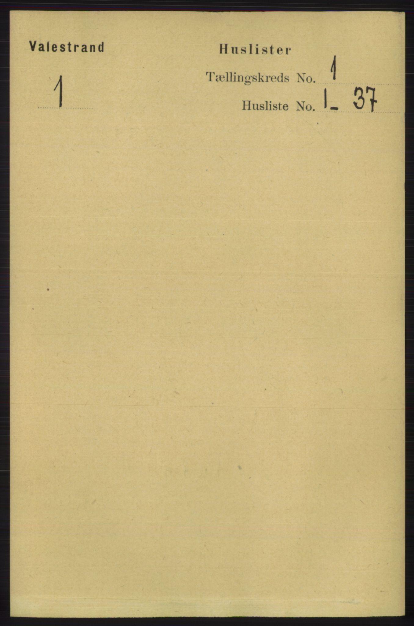 RA, Folketelling 1891 for 1217 Valestrand herred, 1891, s. 15
