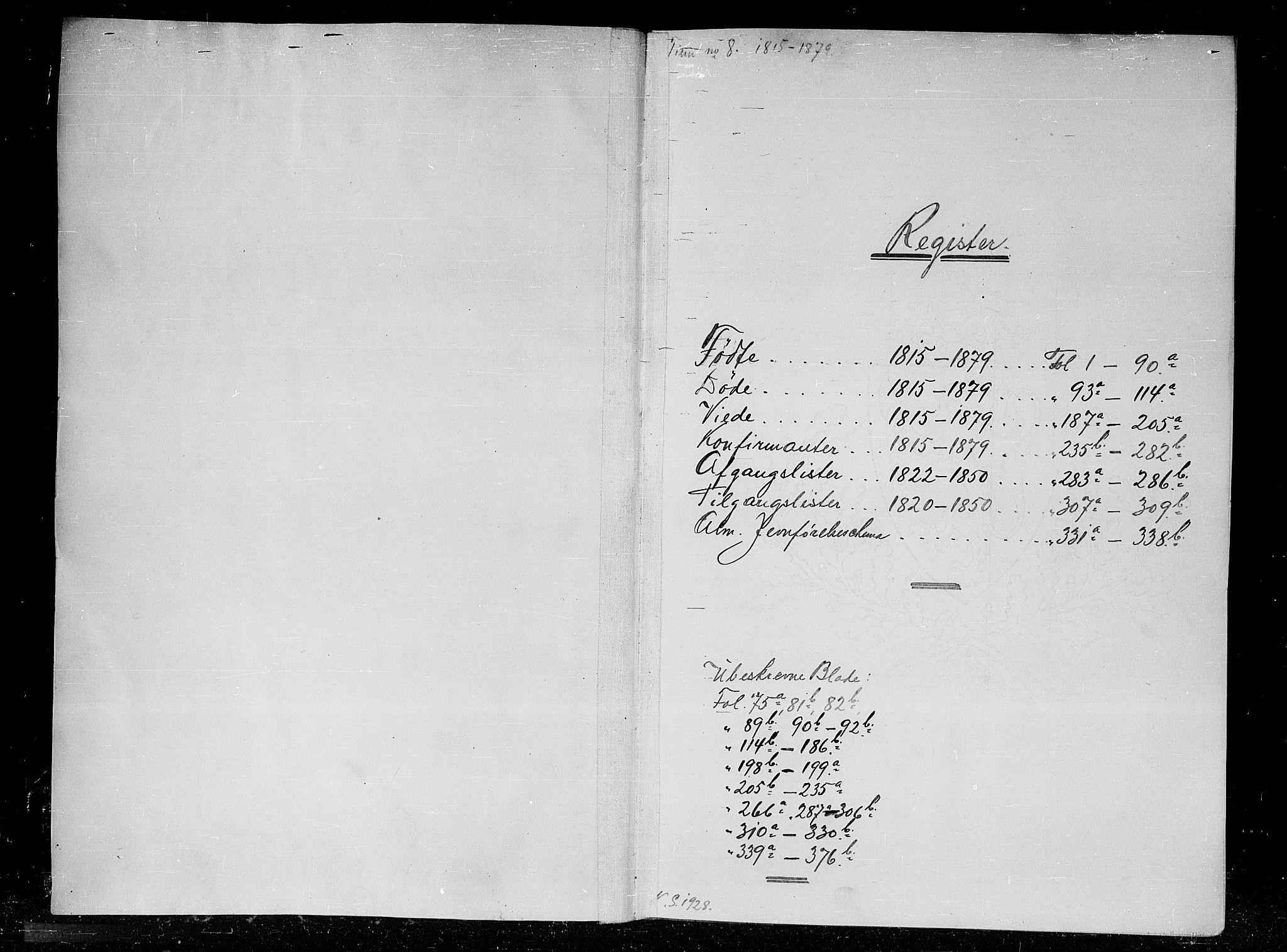 SAKO, Tinn kirkebøker, G/Gc/L0001: Klokkerbok nr. III 1, 1815-1879