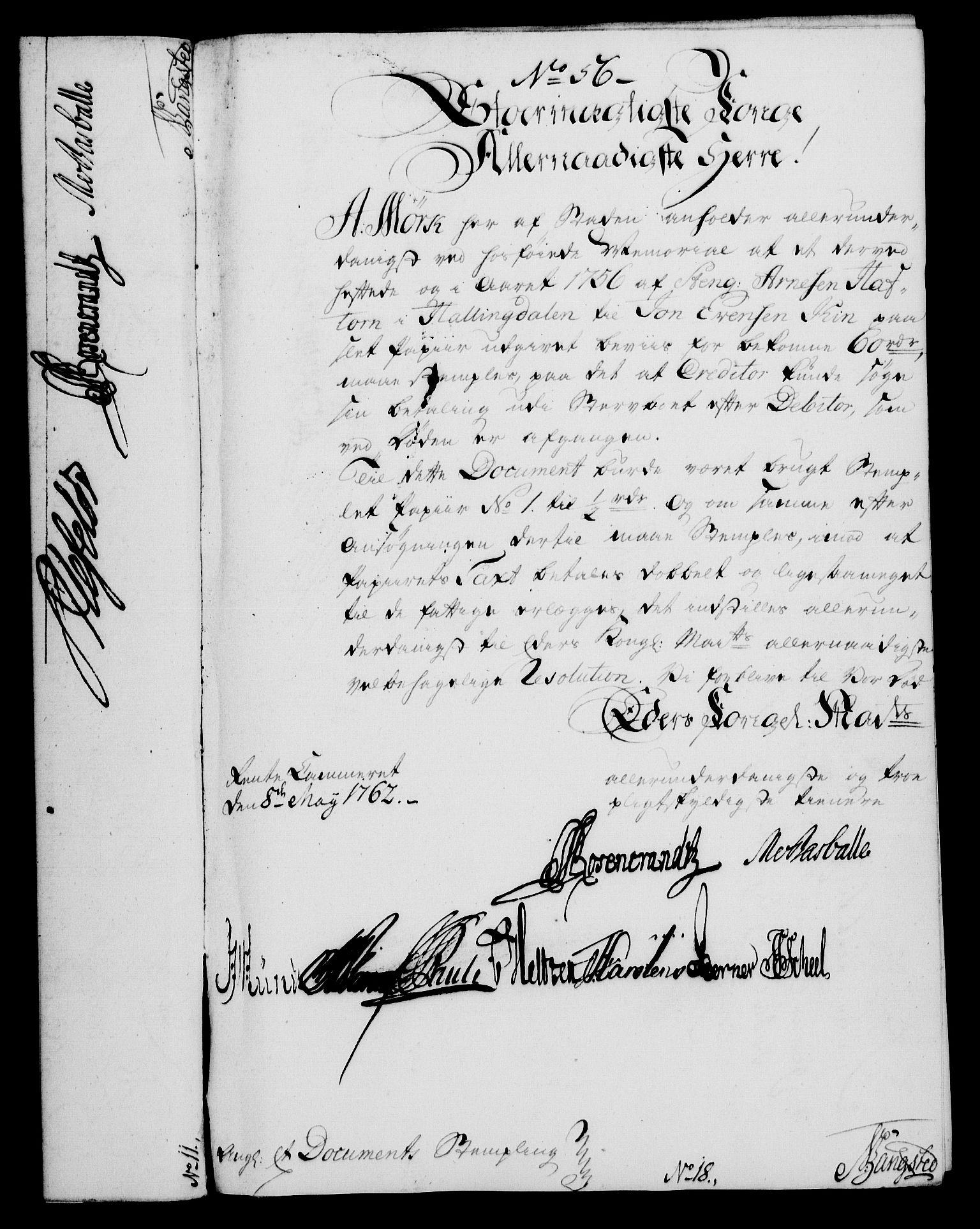 RA, Rentekammeret, Kammerkanselliet, G/Gf/Gfa/L0044: Norsk relasjons- og resolusjonsprotokoll (merket RK 52.44), 1762, s. 234