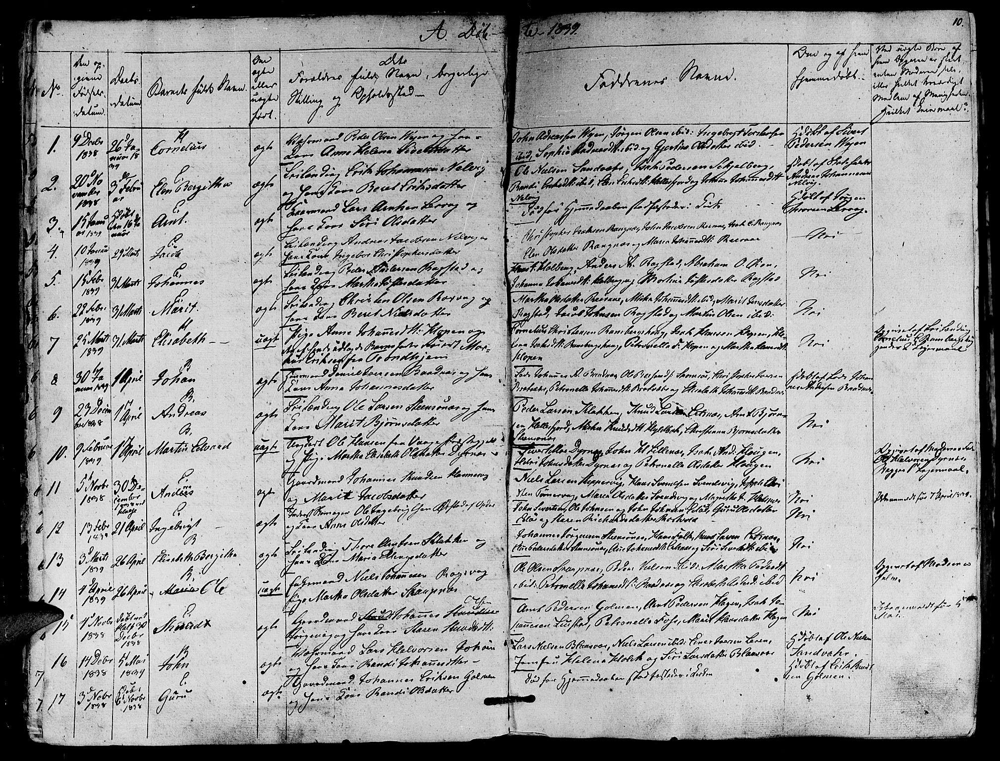 SAT, Ministerialprotokoller, klokkerbøker og fødselsregistre - Møre og Romsdal, 581/L0936: Ministerialbok nr. 581A04, 1836-1852, s. 10