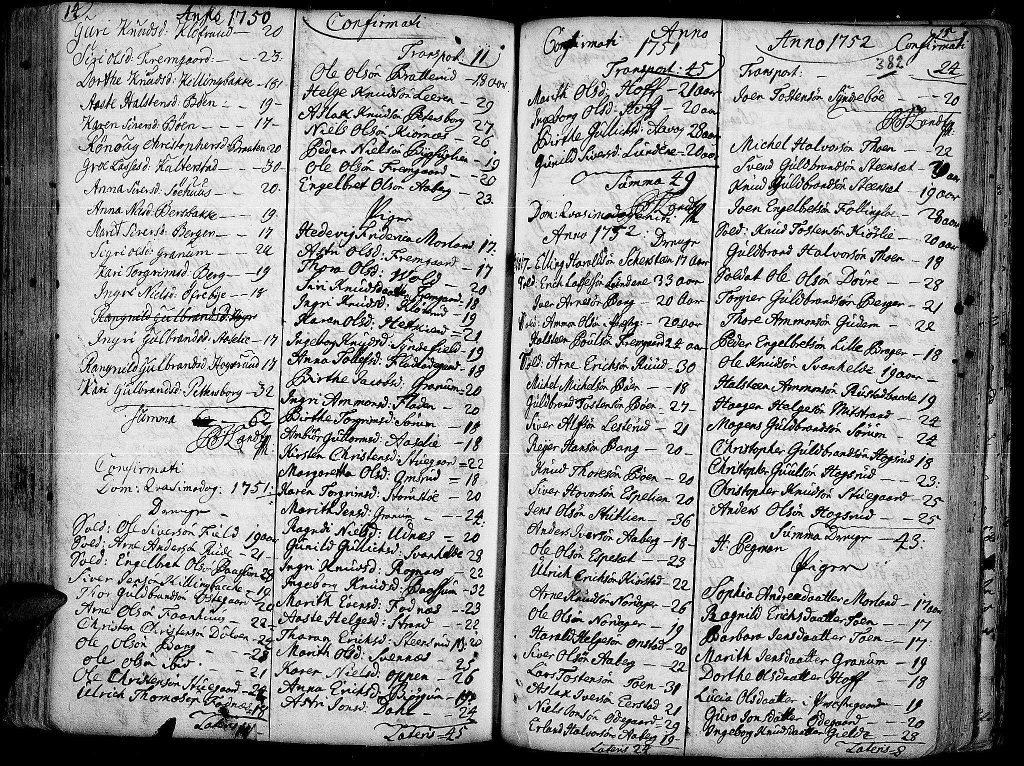 SAH, Aurdal prestekontor, Ministerialbok nr. 4, 1730-1762, s. 14-15