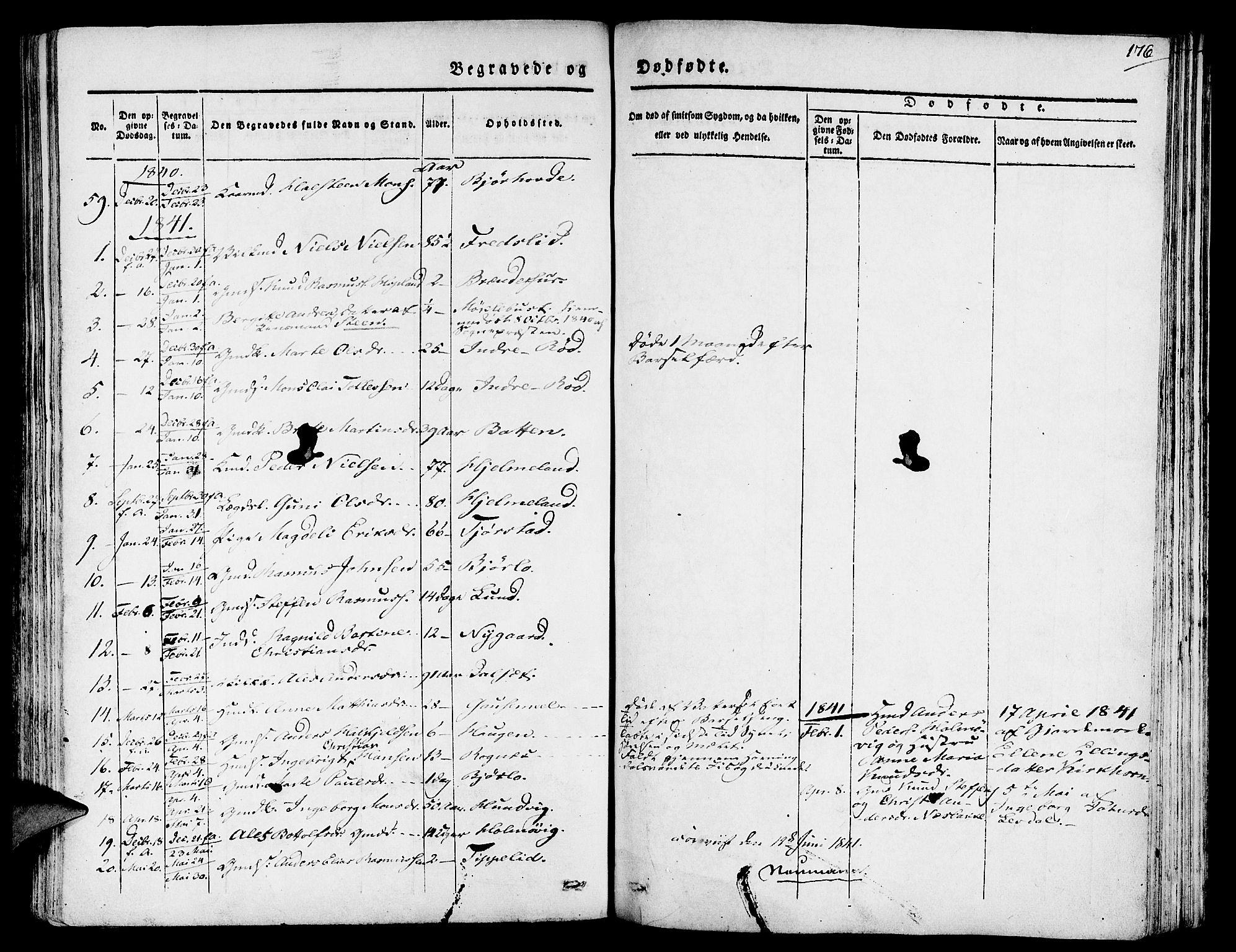 SAB, Eid Sokneprestembete, H/Haa: Ministerialbok nr. A 6, 1831-1843, s. 176