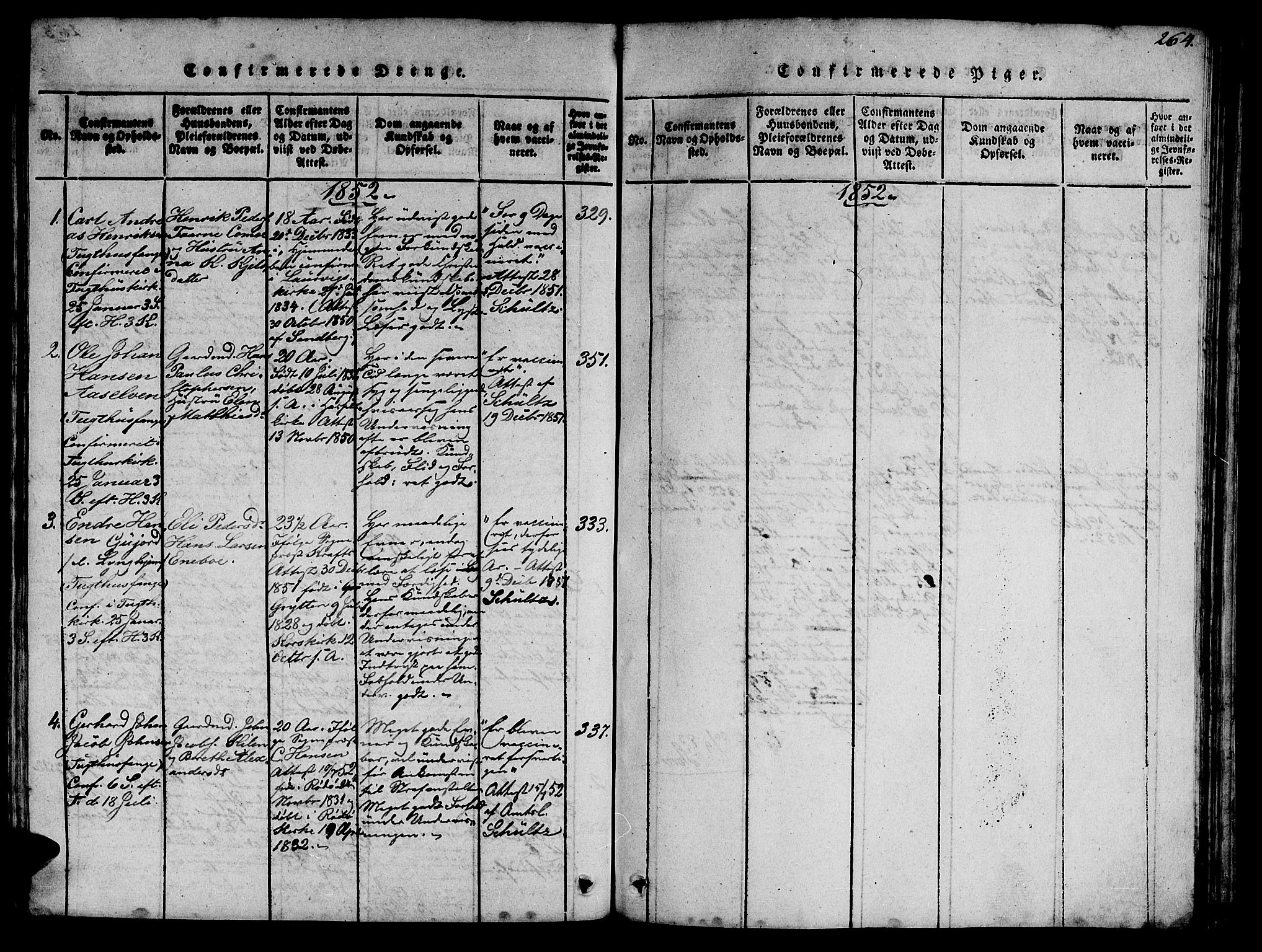 SAT, Ministerialprotokoller, klokkerbøker og fødselsregistre - Sør-Trøndelag, 623/L0478: Klokkerbok nr. 623C01, 1815-1873, s. 264