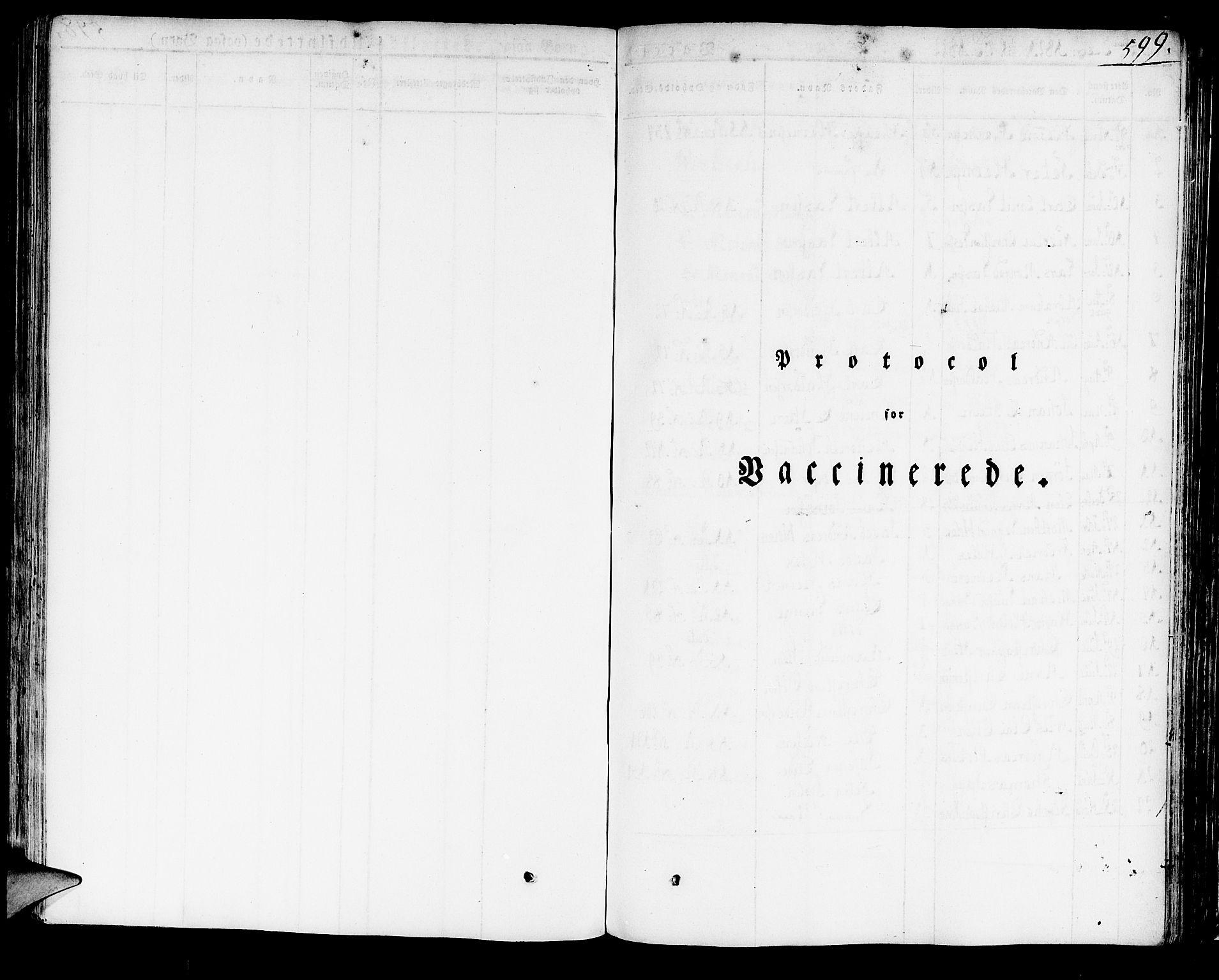 SAB, Domkirken Sokneprestembete, H/Haa/L0012: Ministerialbok nr. A 12, 1821-1840, s. 599