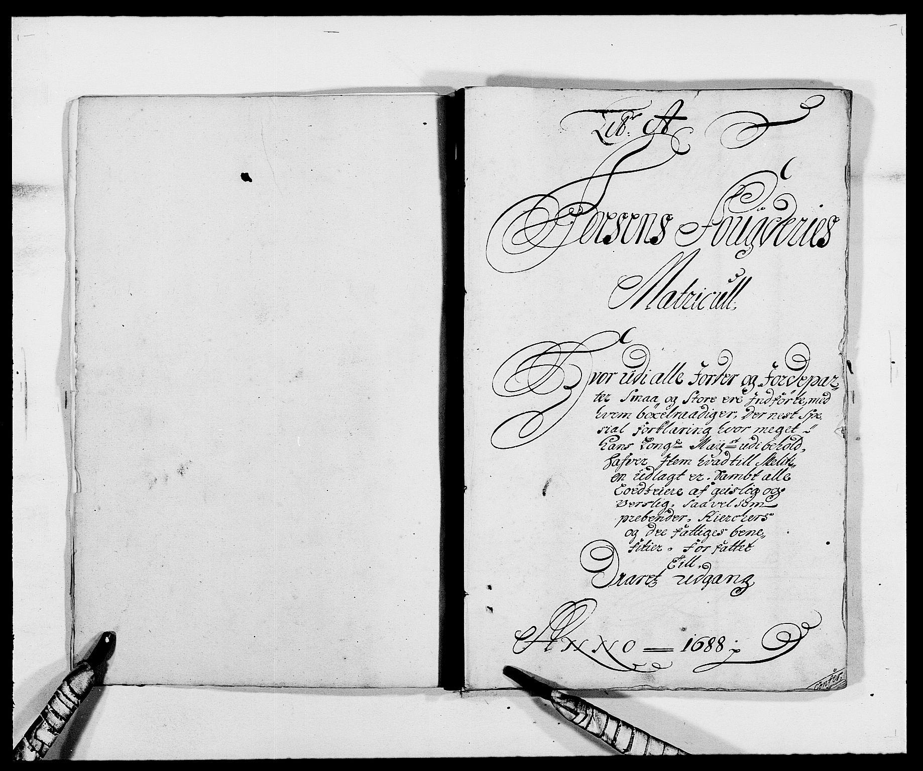 RA, Rentekammeret inntil 1814, Reviderte regnskaper, Fogderegnskap, R57/L3846: Fogderegnskap Fosen, 1688, s. 14
