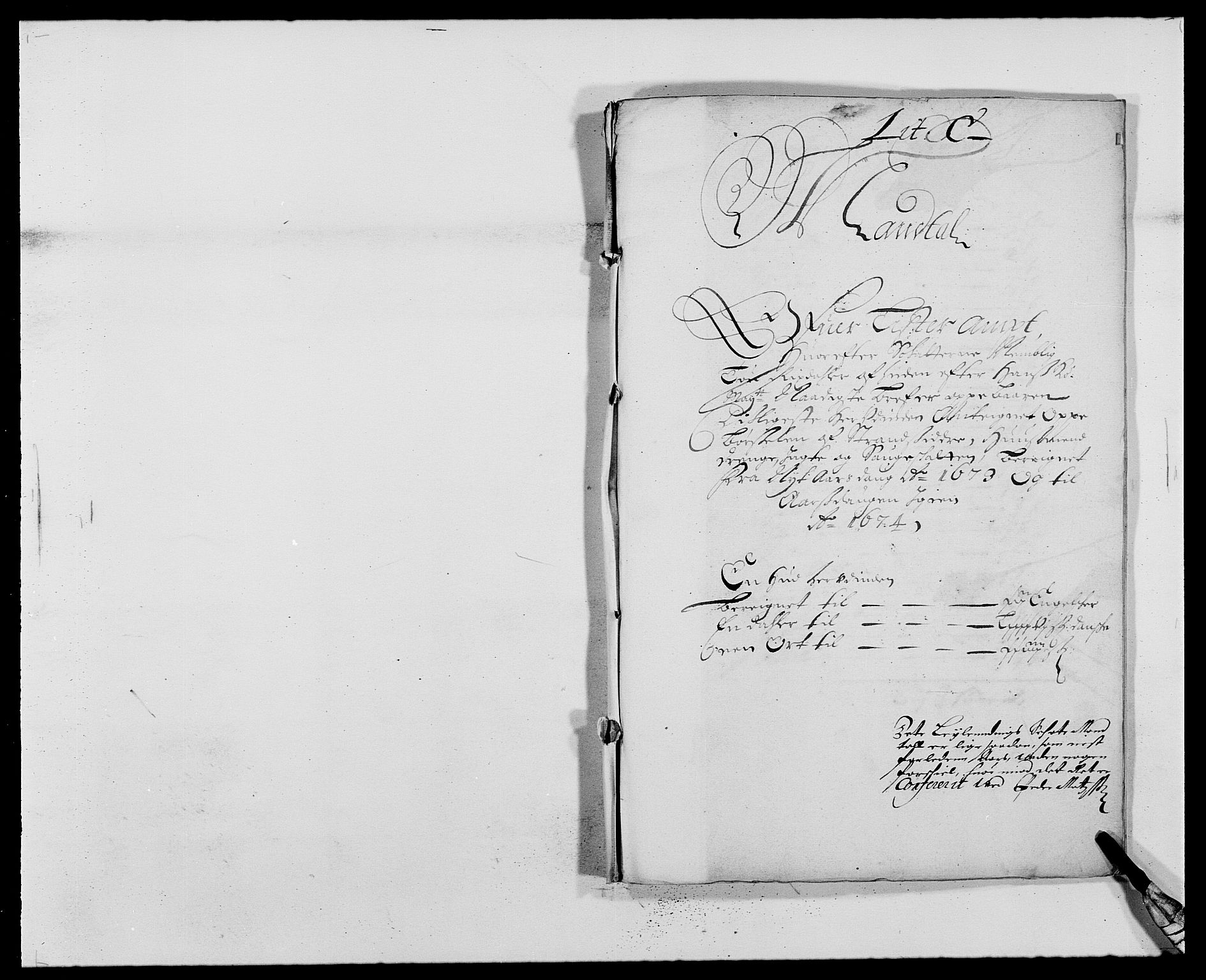 RA, Rentekammeret inntil 1814, Reviderte regnskaper, Fogderegnskap, R41/L2528: Fogderegnskap Lista, 1673-1674, s. 101