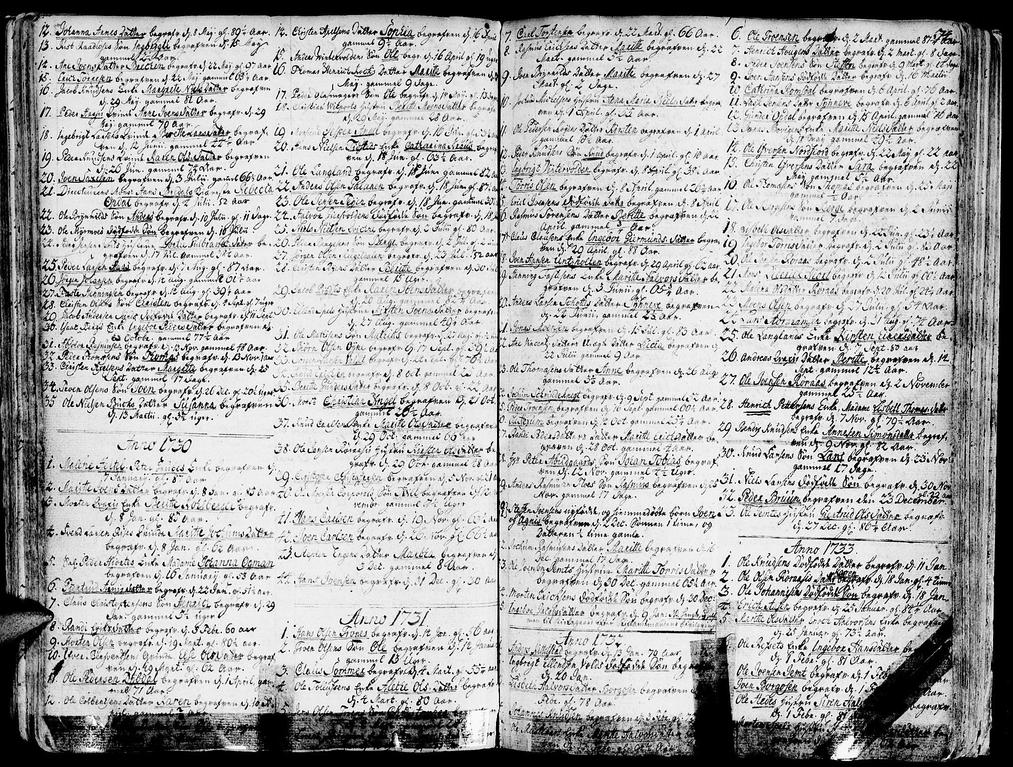 SAT, Ministerialprotokoller, klokkerbøker og fødselsregistre - Sør-Trøndelag, 681/L0925: Ministerialbok nr. 681A03, 1727-1766, s. 74