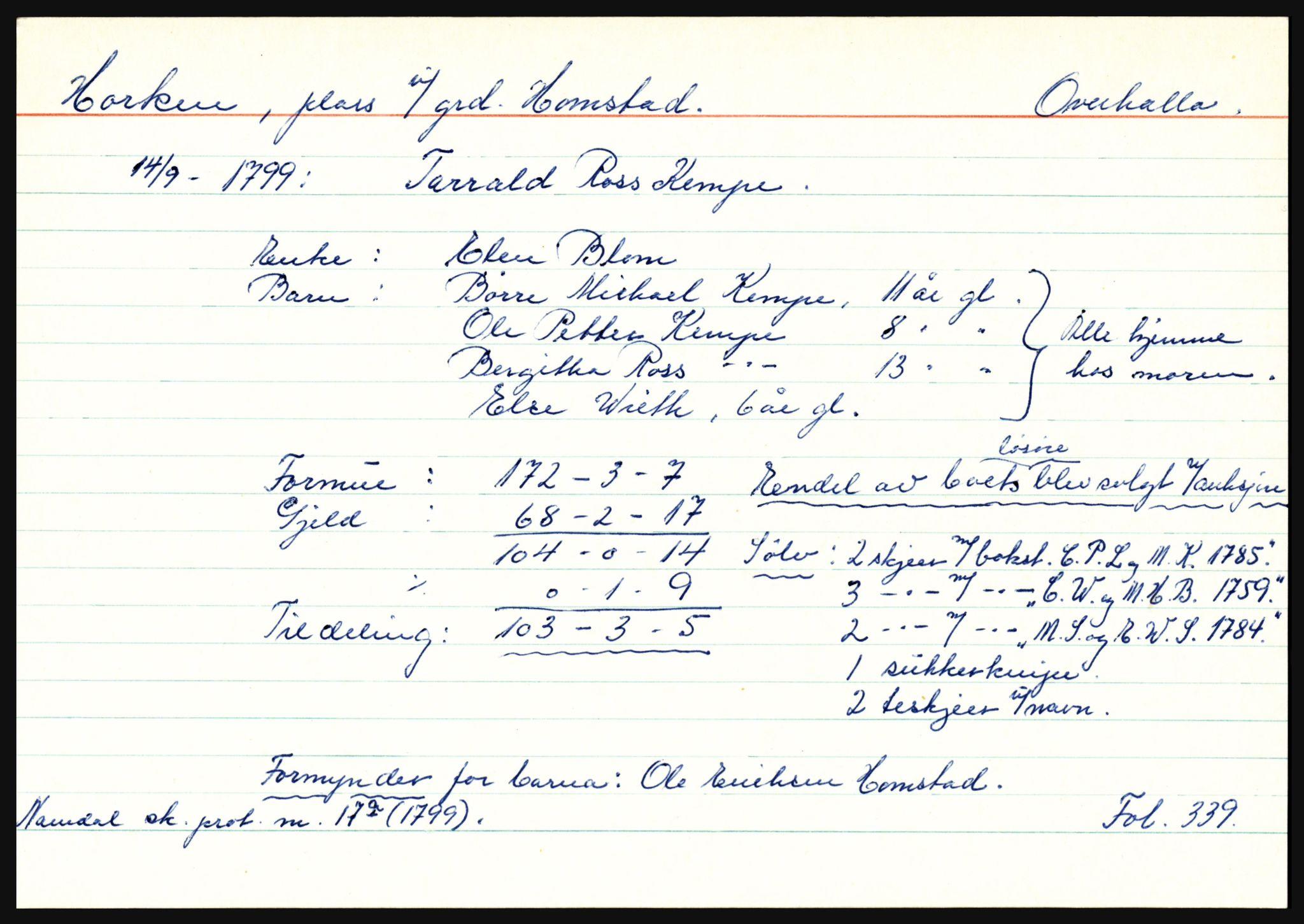 SAT, Namdal sorenskriveri, 3, 1656-1803, s. 3339