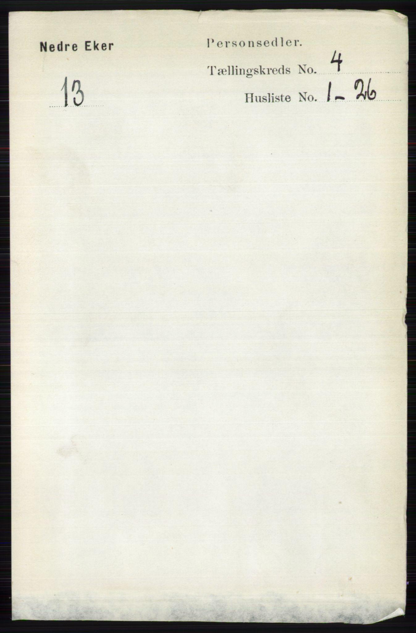 RA, Folketelling 1891 for 0625 Nedre Eiker herred, 1891, s. 1941
