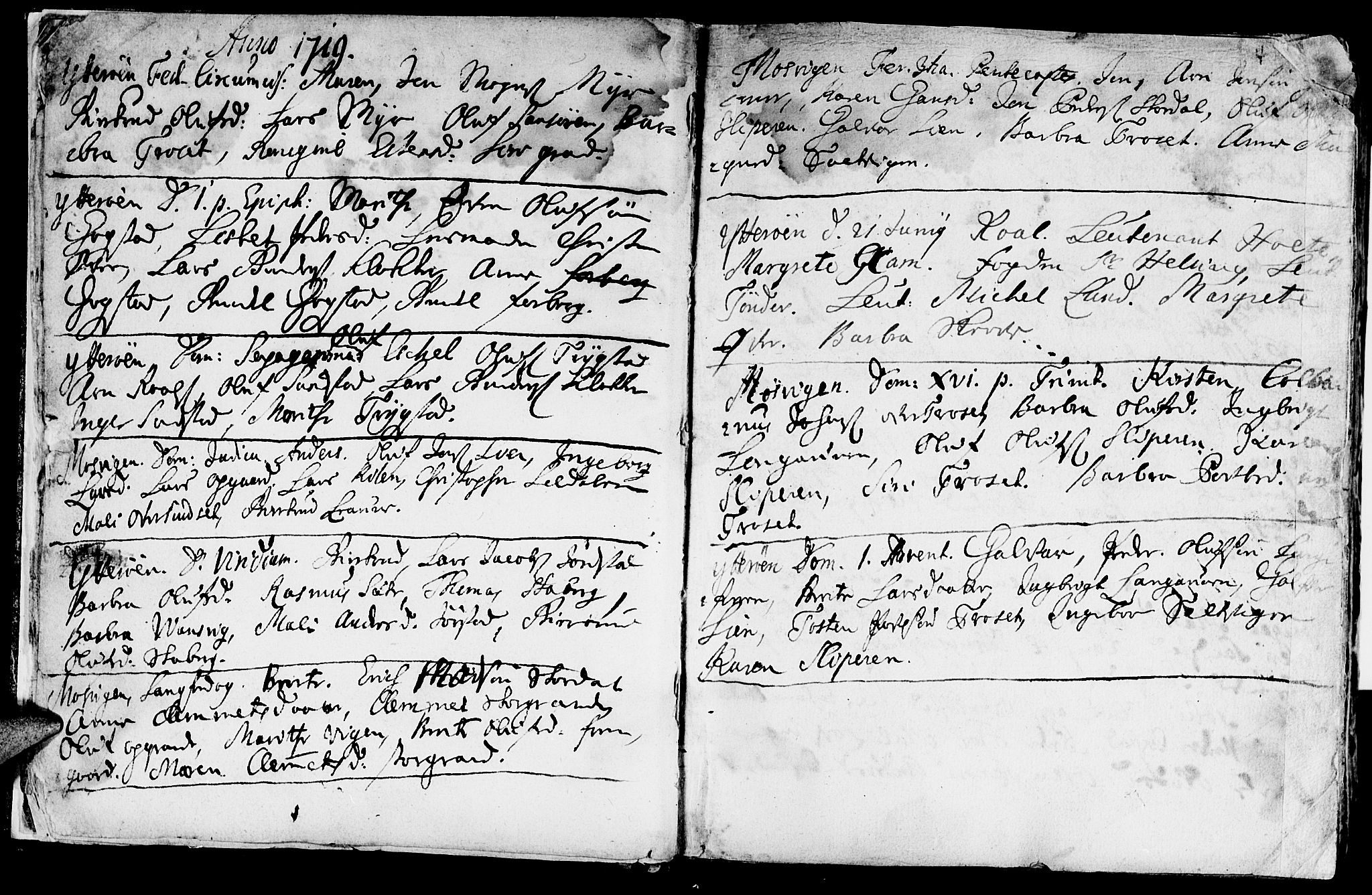 SAT, Ministerialprotokoller, klokkerbøker og fødselsregistre - Nord-Trøndelag, 722/L0215: Ministerialbok nr. 722A02, 1718-1755, s. 4