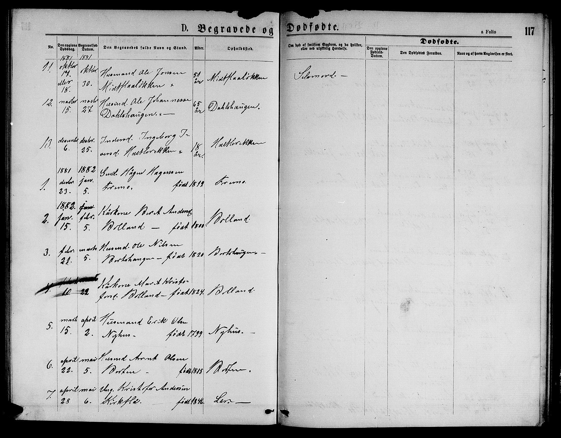 SAT, Ministerialprotokoller, klokkerbøker og fødselsregistre - Sør-Trøndelag, 693/L1122: Klokkerbok nr. 693C03, 1870-1886, s. 117
