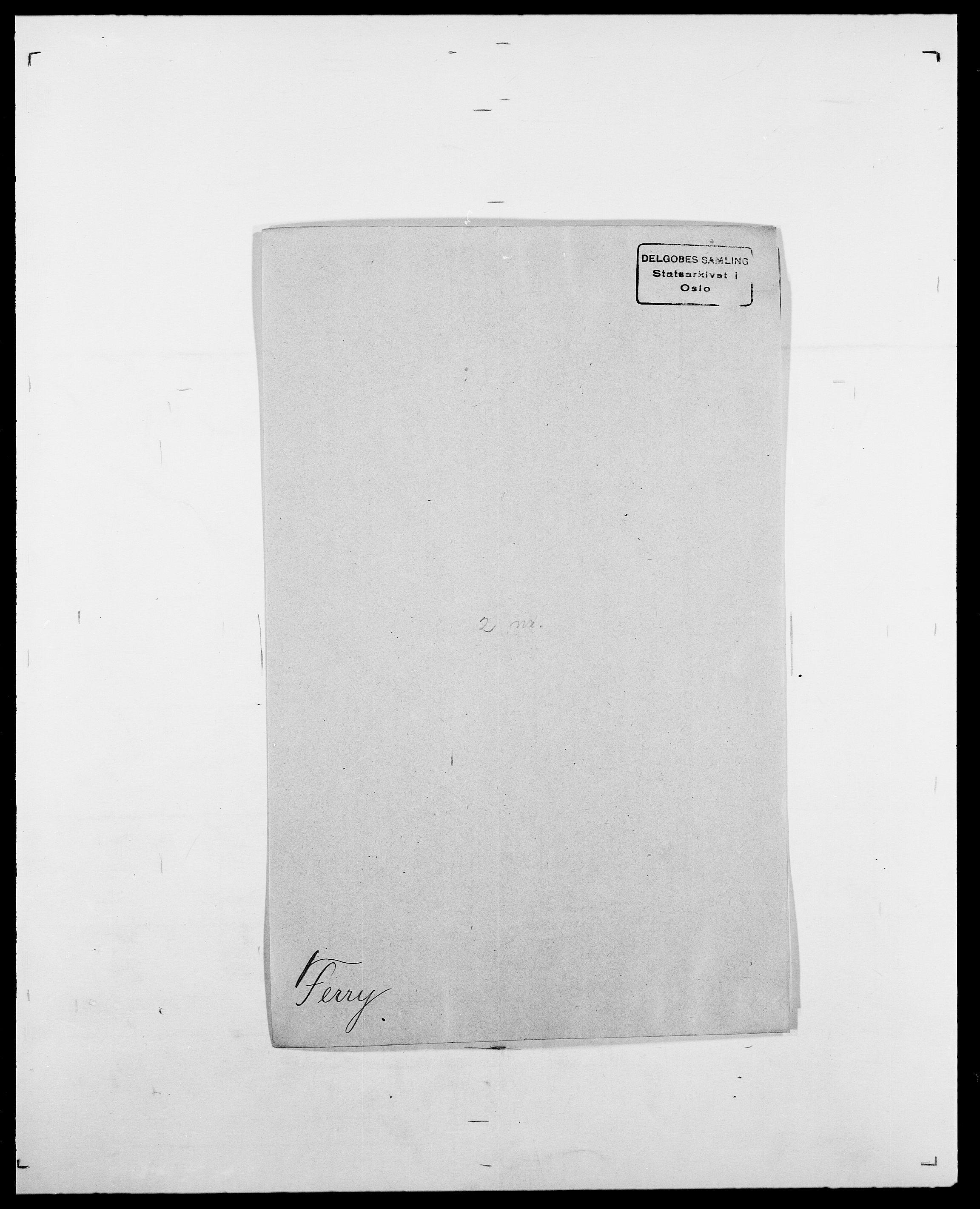 SAO, Delgobe, Charles Antoine - samling, D/Da/L0011: Fahlander - Flood, Flod, s. 380