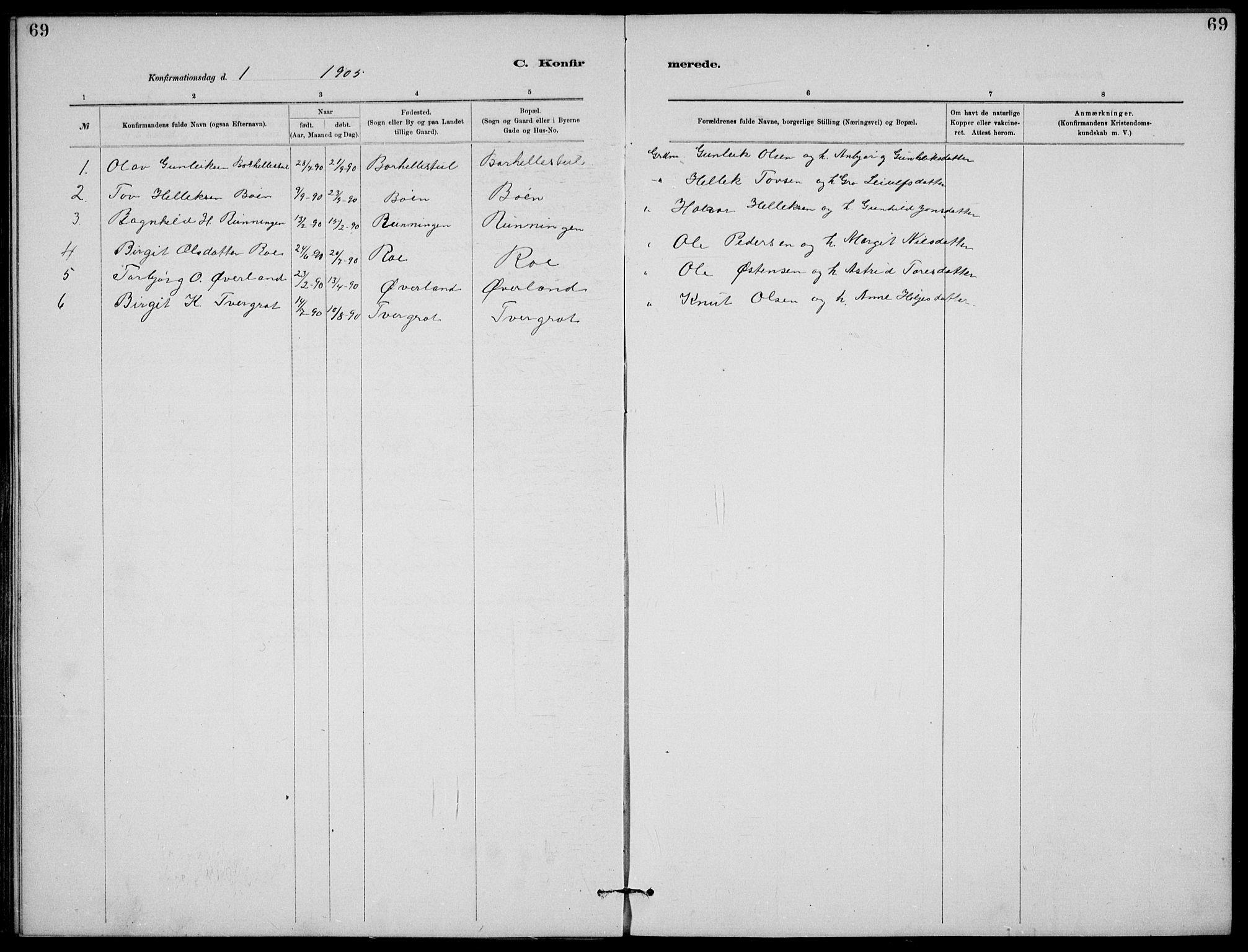 SAKO, Rjukan kirkebøker, G/Ga/L0001: Klokkerbok nr. 1, 1880-1914, s. 69