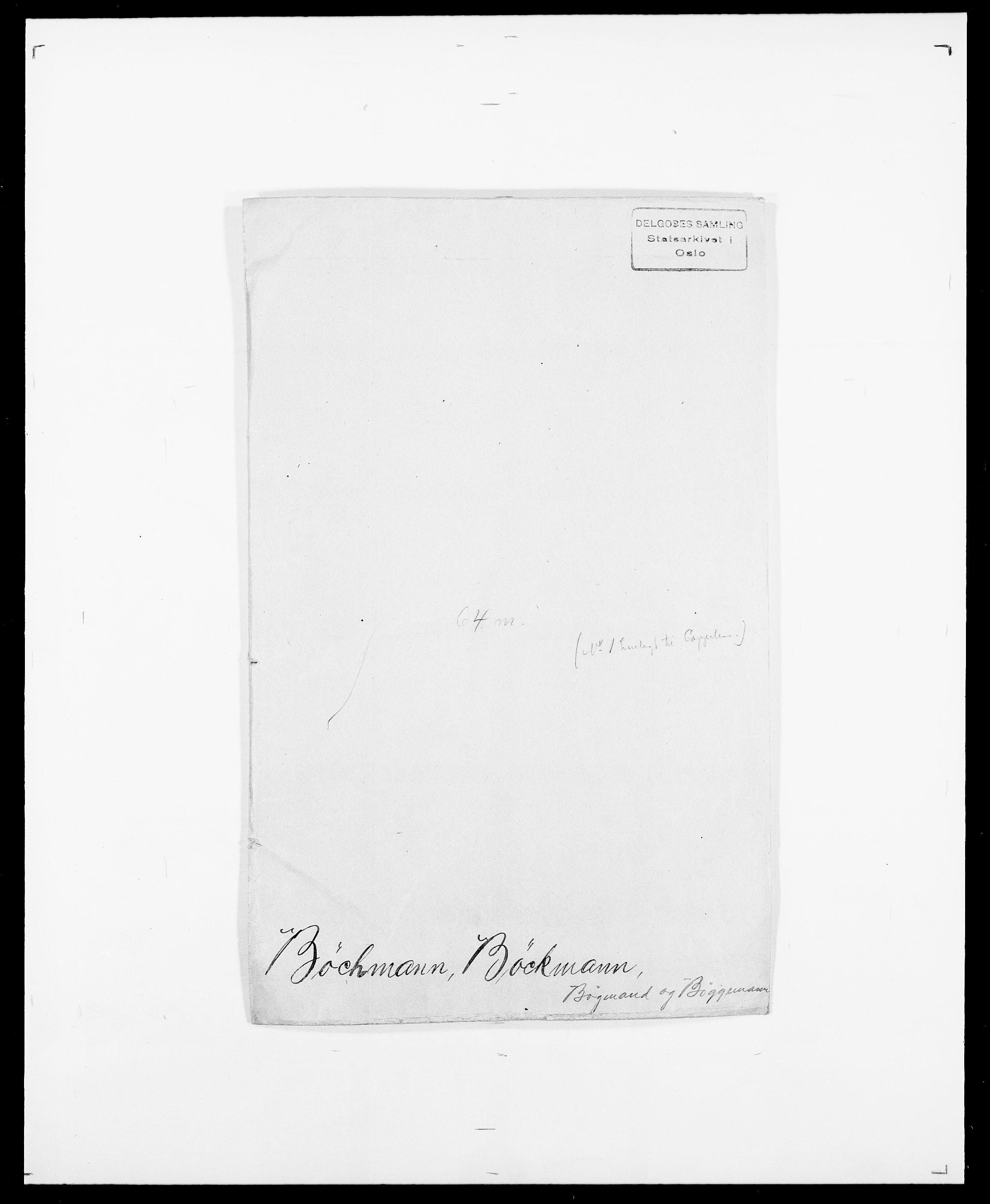 SAO, Delgobe, Charles Antoine - samling, D/Da/L0007: Buaas - Caphengst, s. 574