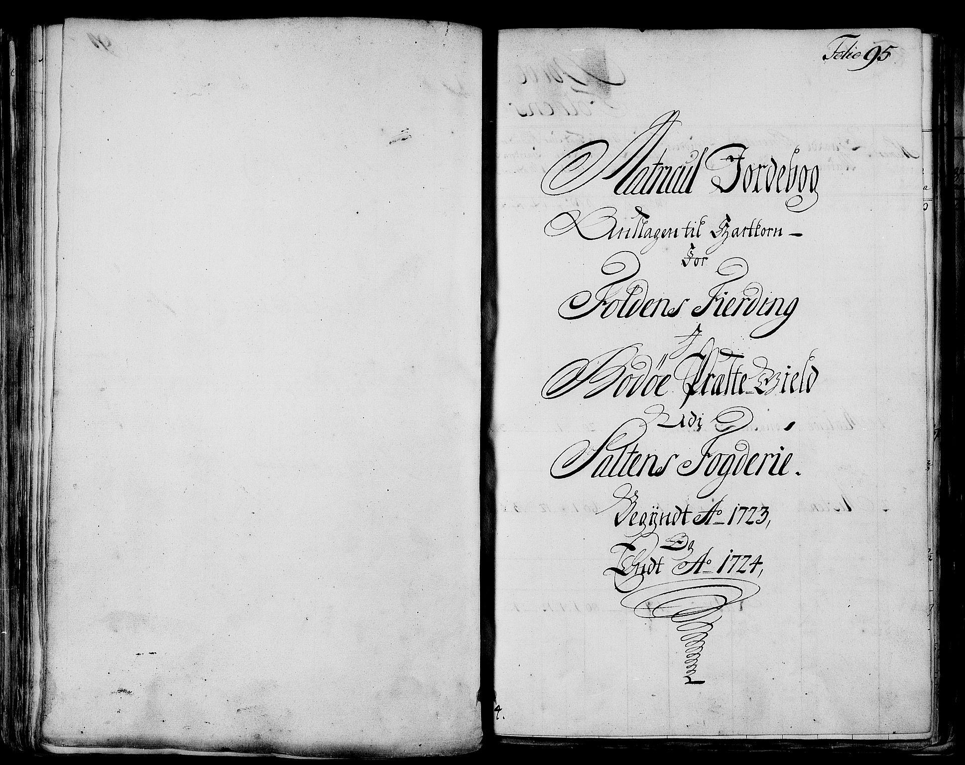 RA, Rentekammeret inntil 1814, Realistisk ordnet avdeling, N/Nb/Nbf/L0173: Salten matrikkelprotokoll, 1723, s. 94b-95a