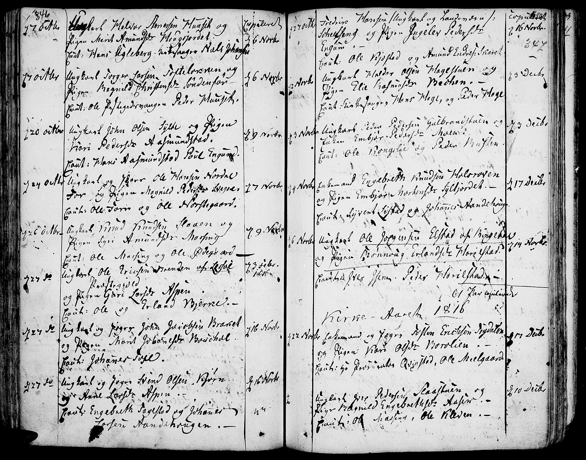 SAH, Fron prestekontor, H/Ha/Haa/L0001: Ministerialbok nr. 1, 1799-1816, s. 346-347