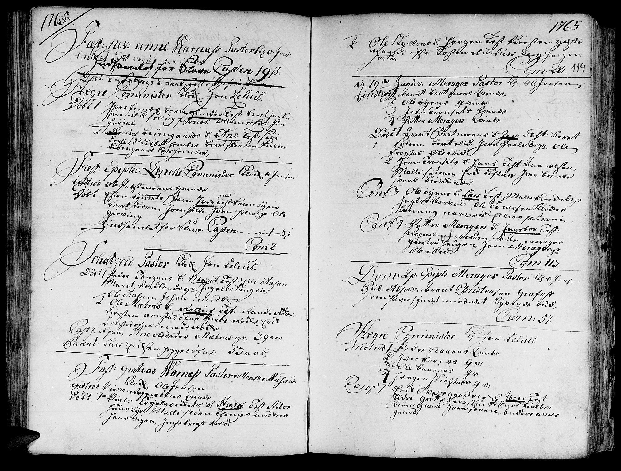 SAT, Ministerialprotokoller, klokkerbøker og fødselsregistre - Nord-Trøndelag, 709/L0057: Ministerialbok nr. 709A05, 1755-1780, s. 119
