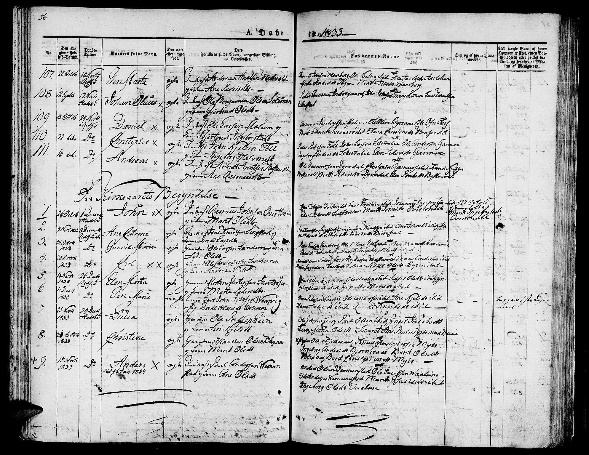 SAT, Ministerialprotokoller, klokkerbøker og fødselsregistre - Sør-Trøndelag, 646/L0609: Ministerialbok nr. 646A07, 1826-1838, s. 56