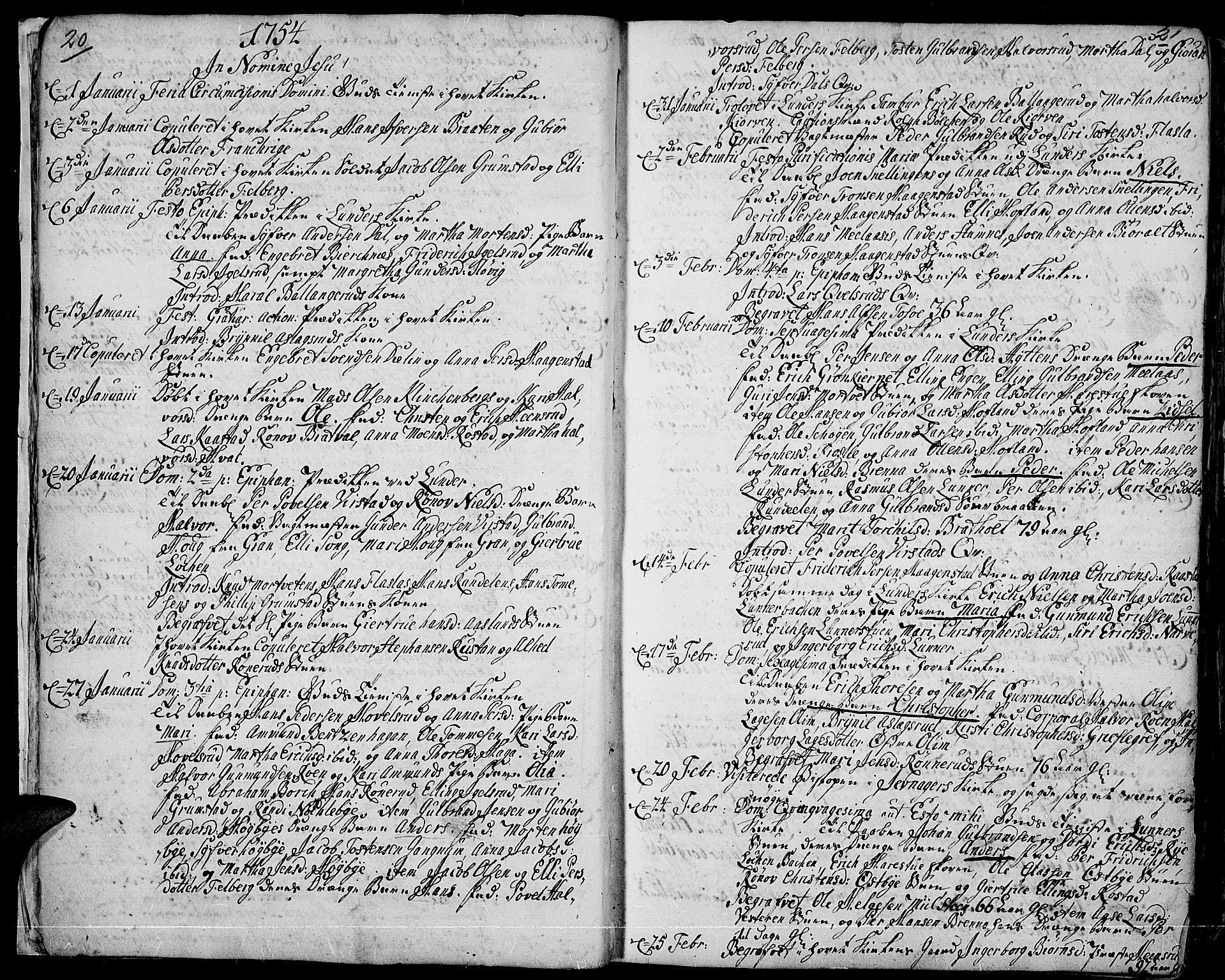 SAH, Jevnaker prestekontor, Ministerialbok nr. 3, 1752-1799, s. 20-21