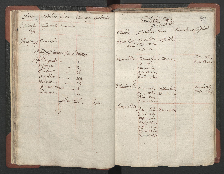 RA, Fogdenes og sorenskrivernes manntall 1664-1666, nr. 9: Mandal len, 1664-1666, s. 48-49