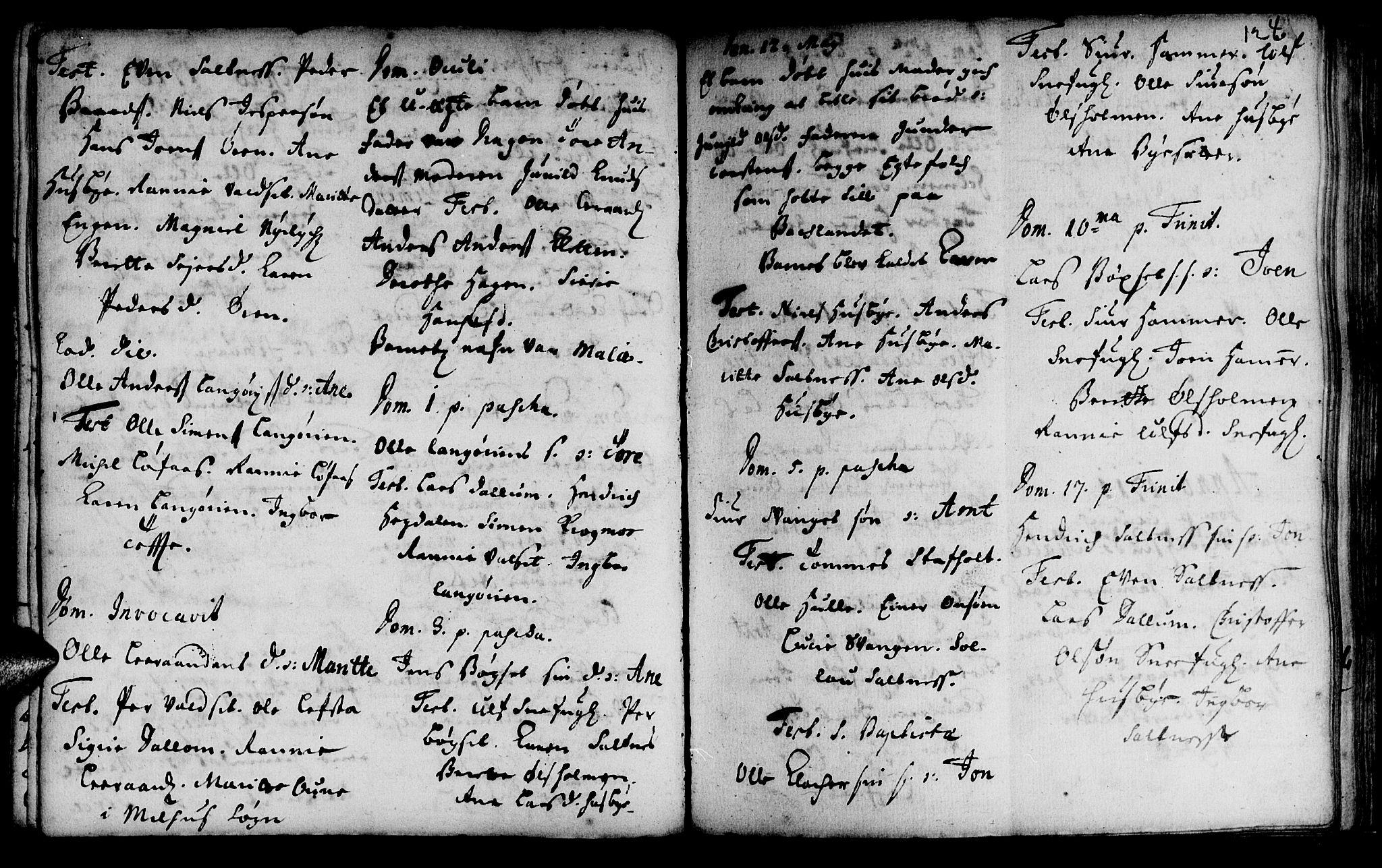 SAT, Ministerialprotokoller, klokkerbøker og fødselsregistre - Sør-Trøndelag, 666/L0783: Ministerialbok nr. 666A01, 1702-1753, s. 124