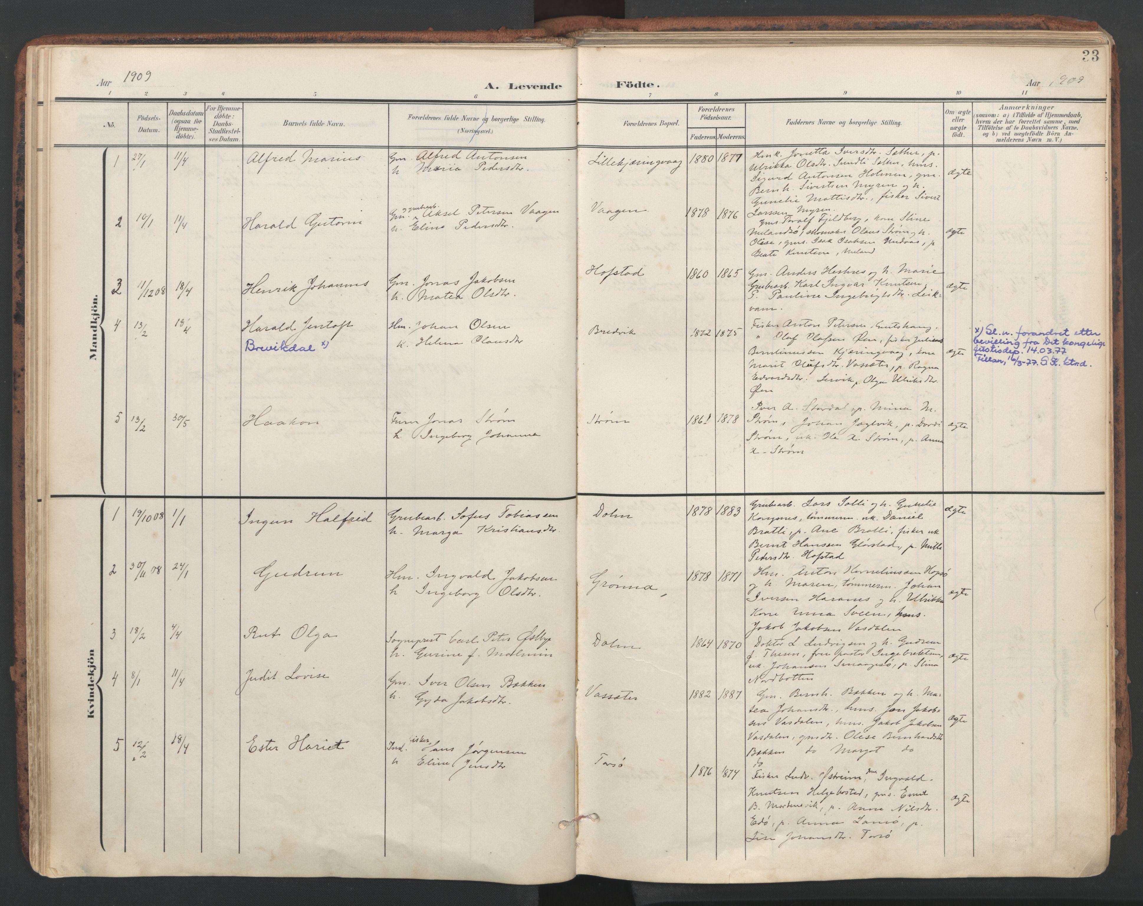 SAT, Ministerialprotokoller, klokkerbøker og fødselsregistre - Sør-Trøndelag, 634/L0537: Ministerialbok nr. 634A13, 1896-1922, s. 33
