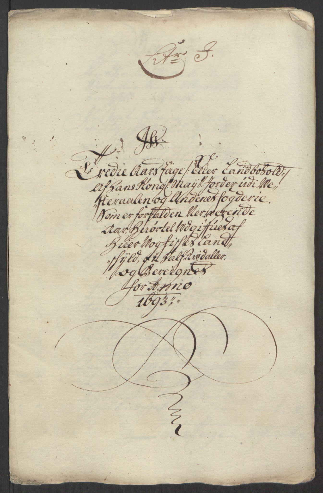 RA, Rentekammeret inntil 1814, Reviderte regnskaper, Fogderegnskap, R67/L4676: Fogderegnskap Vesterålen, Andenes og Lofoten, 1691-1693, s. 325