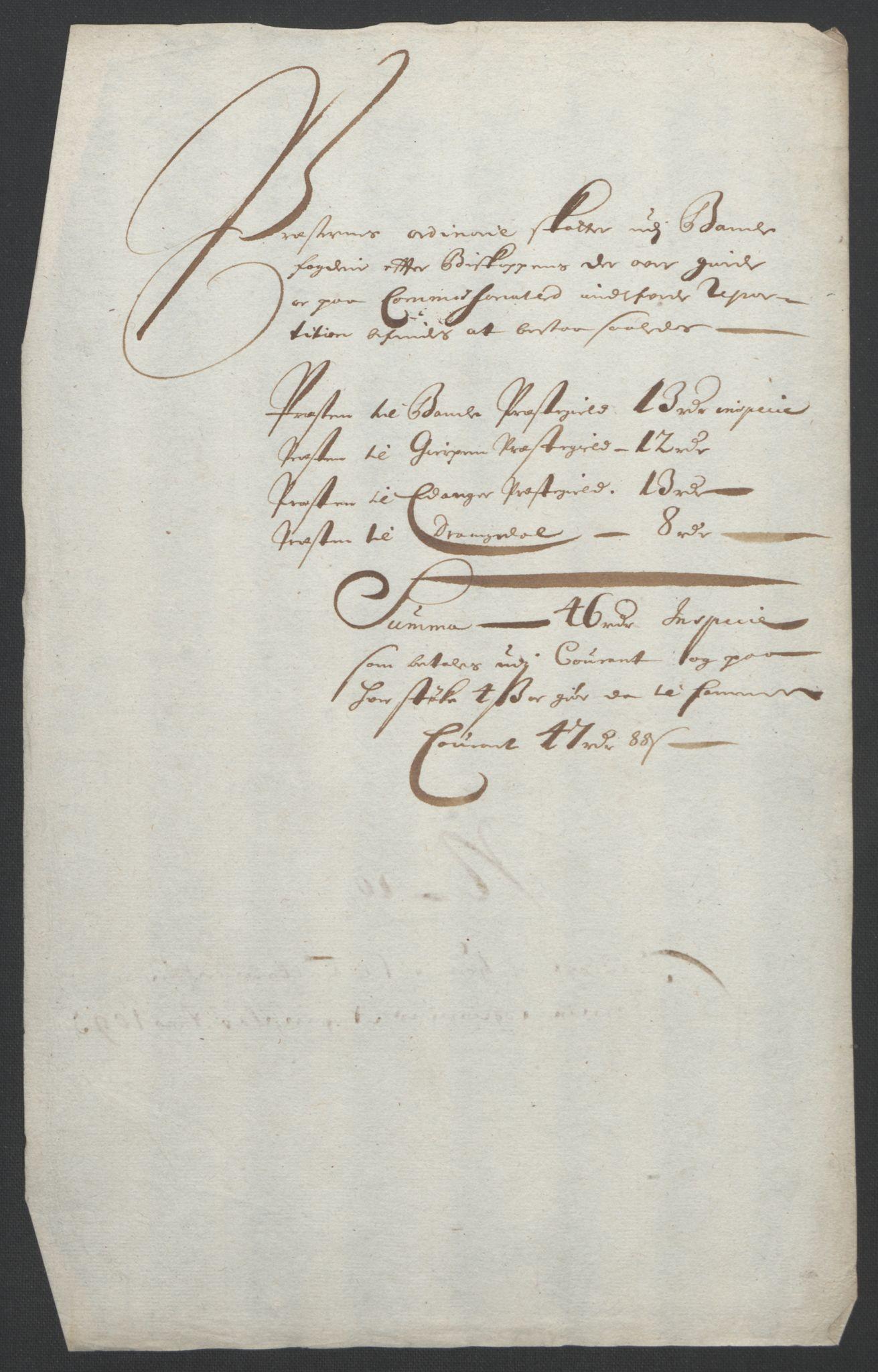 RA, Rentekammeret inntil 1814, Reviderte regnskaper, Fogderegnskap, R36/L2093: Fogderegnskap Øvre og Nedre Telemark og Bamble, 1695, s. 471