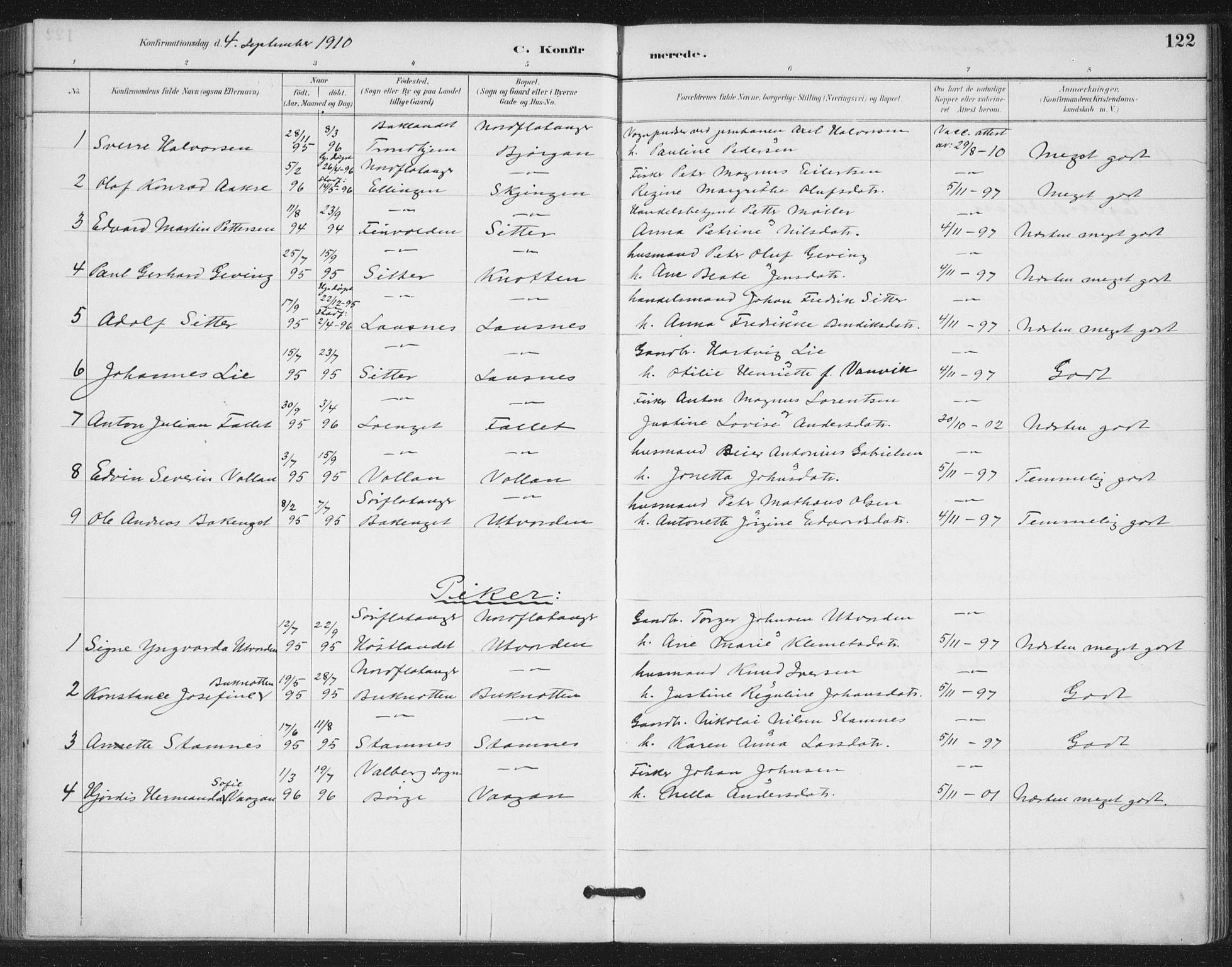 SAT, Ministerialprotokoller, klokkerbøker og fødselsregistre - Nord-Trøndelag, 772/L0603: Ministerialbok nr. 772A01, 1885-1912, s. 122