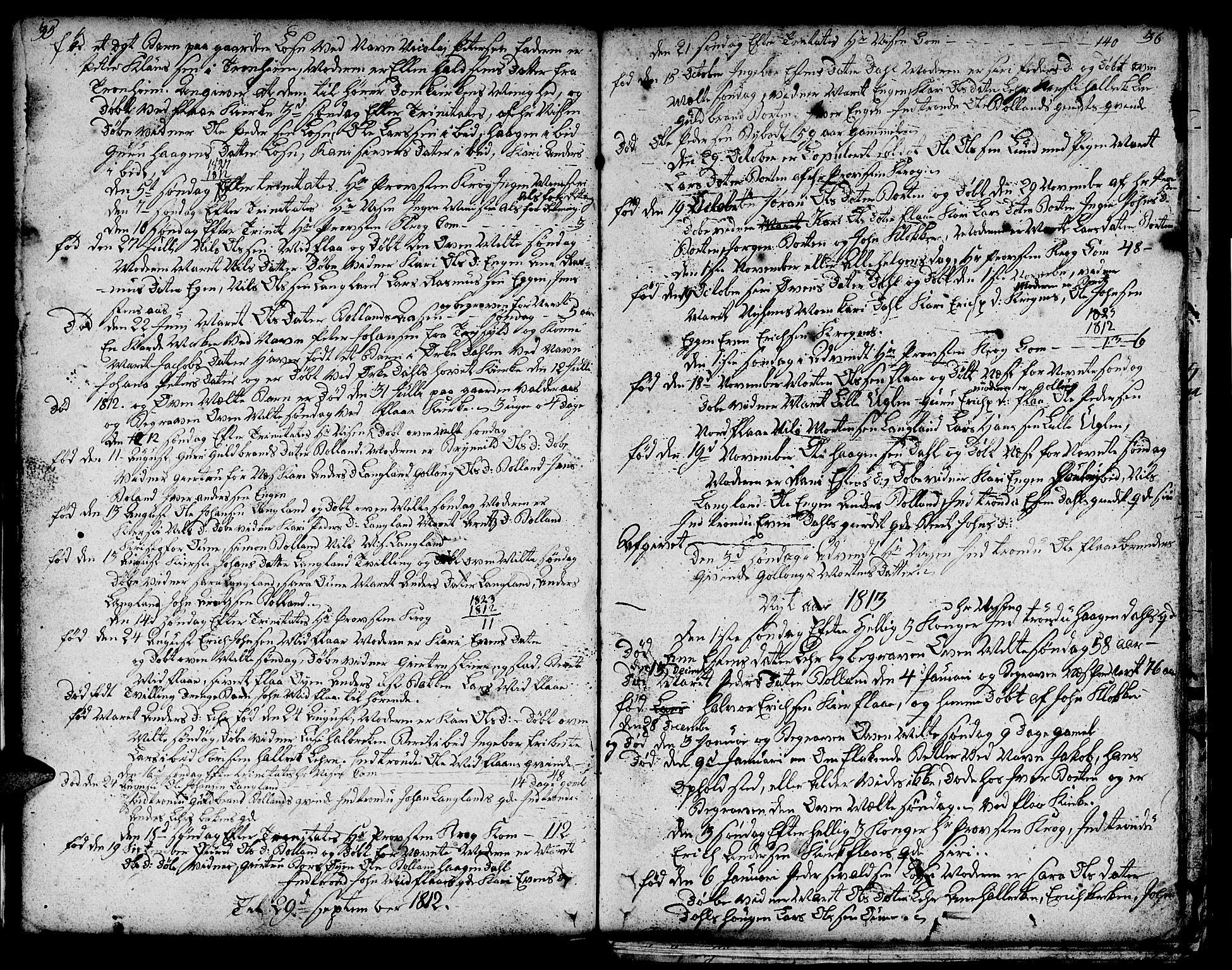 SAT, Ministerialprotokoller, klokkerbøker og fødselsregistre - Sør-Trøndelag, 693/L1120: Klokkerbok nr. 693C01, 1799-1816, s. 35-36