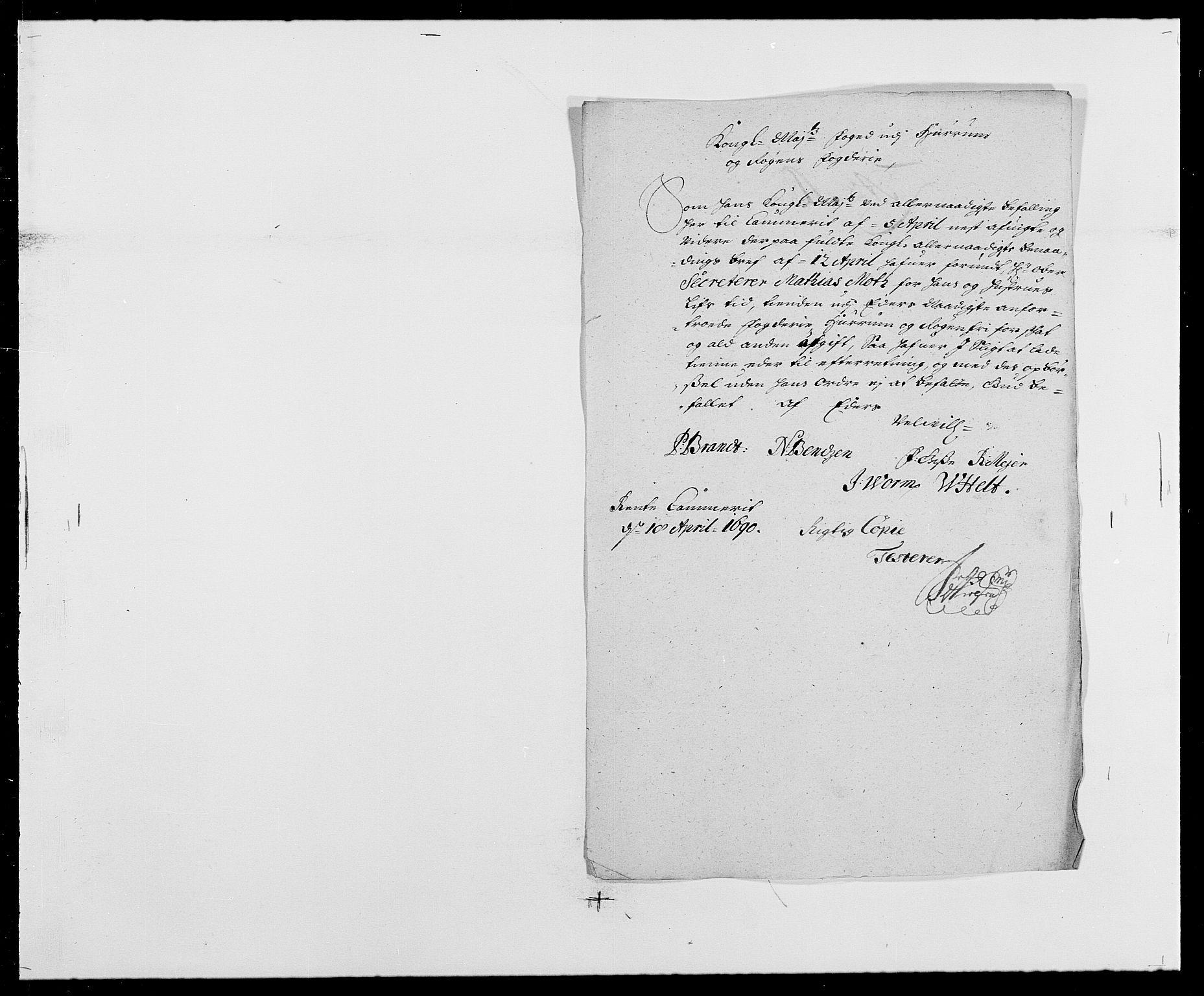 RA, Rentekammeret inntil 1814, Reviderte regnskaper, Fogderegnskap, R29/L1693: Fogderegnskap Hurum og Røyken, 1688-1693, s. 197