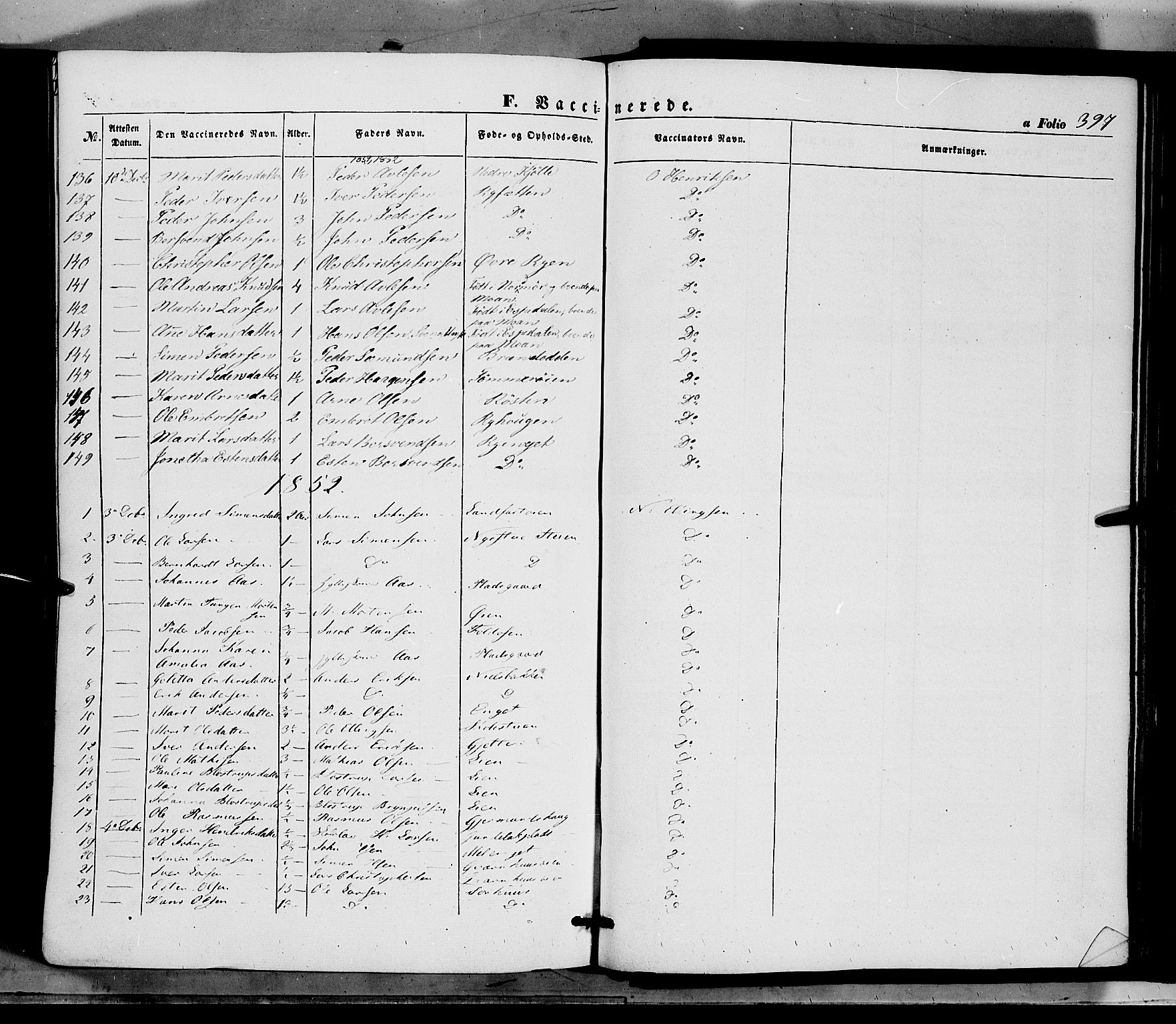 SAH, Tynset prestekontor, Ministerialbok nr. 20, 1848-1862, s. 397