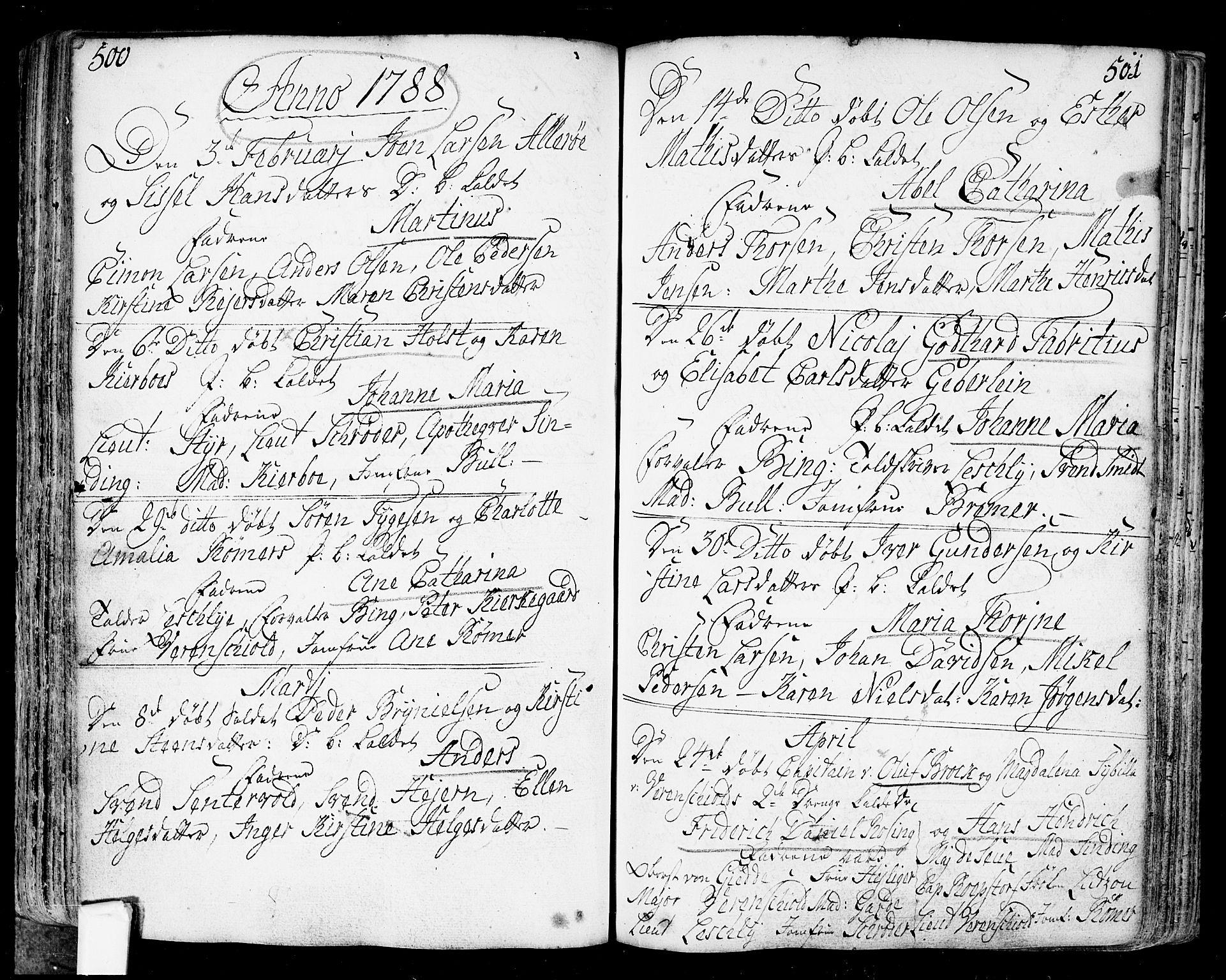 SAO, Fredrikstad prestekontor Kirkebøker, F/Fa/L0002: Ministerialbok nr. 2, 1750-1804, s. 500-501