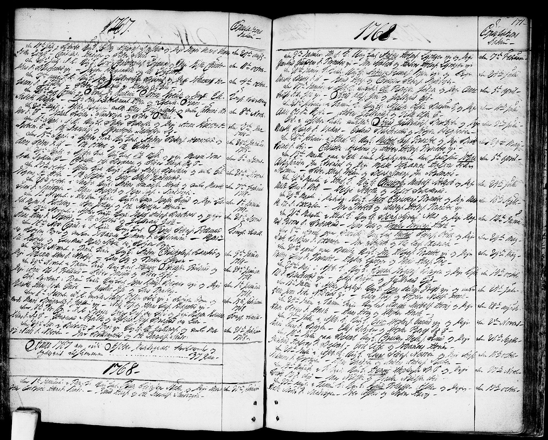 SAO, Asker prestekontor Kirkebøker, F/Fa/L0003: Ministerialbok nr. I 3, 1767-1807, s. 171