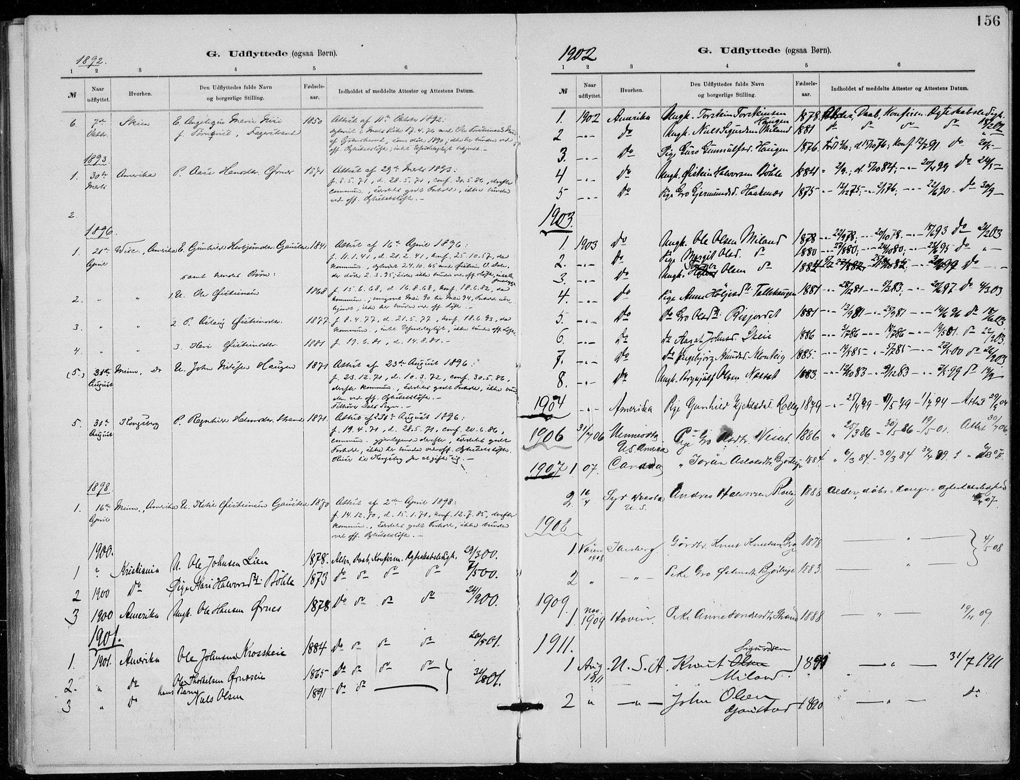 SAKO, Tinn kirkebøker, F/Fb/L0002: Ministerialbok nr. II 2, 1878-1917, s. 156