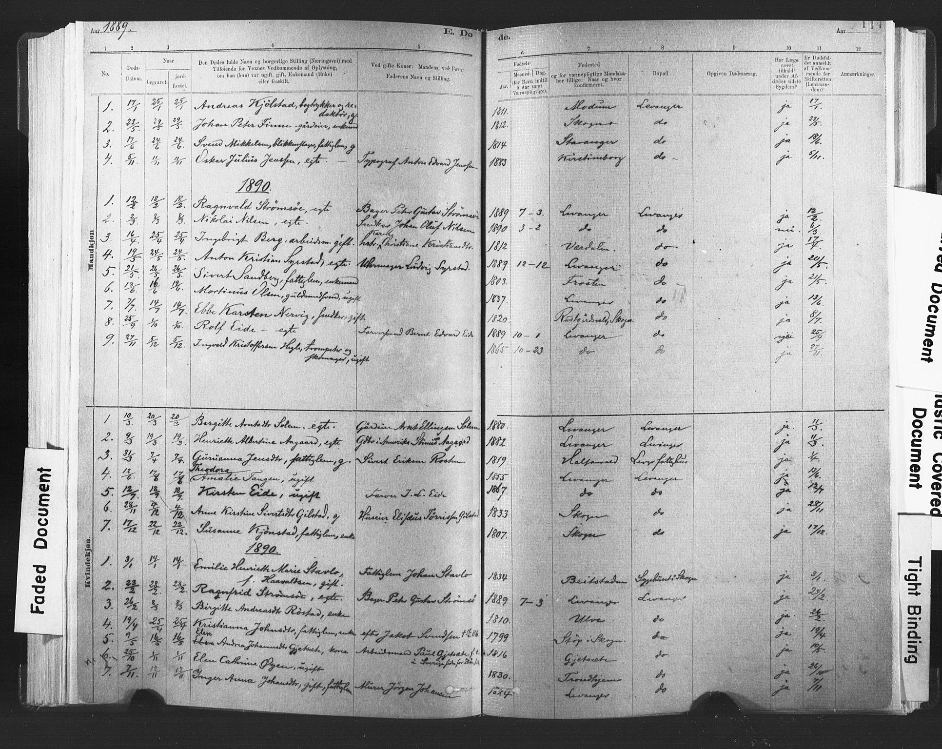 SAT, Ministerialprotokoller, klokkerbøker og fødselsregistre - Nord-Trøndelag, 720/L0189: Ministerialbok nr. 720A05, 1880-1911, s. 114