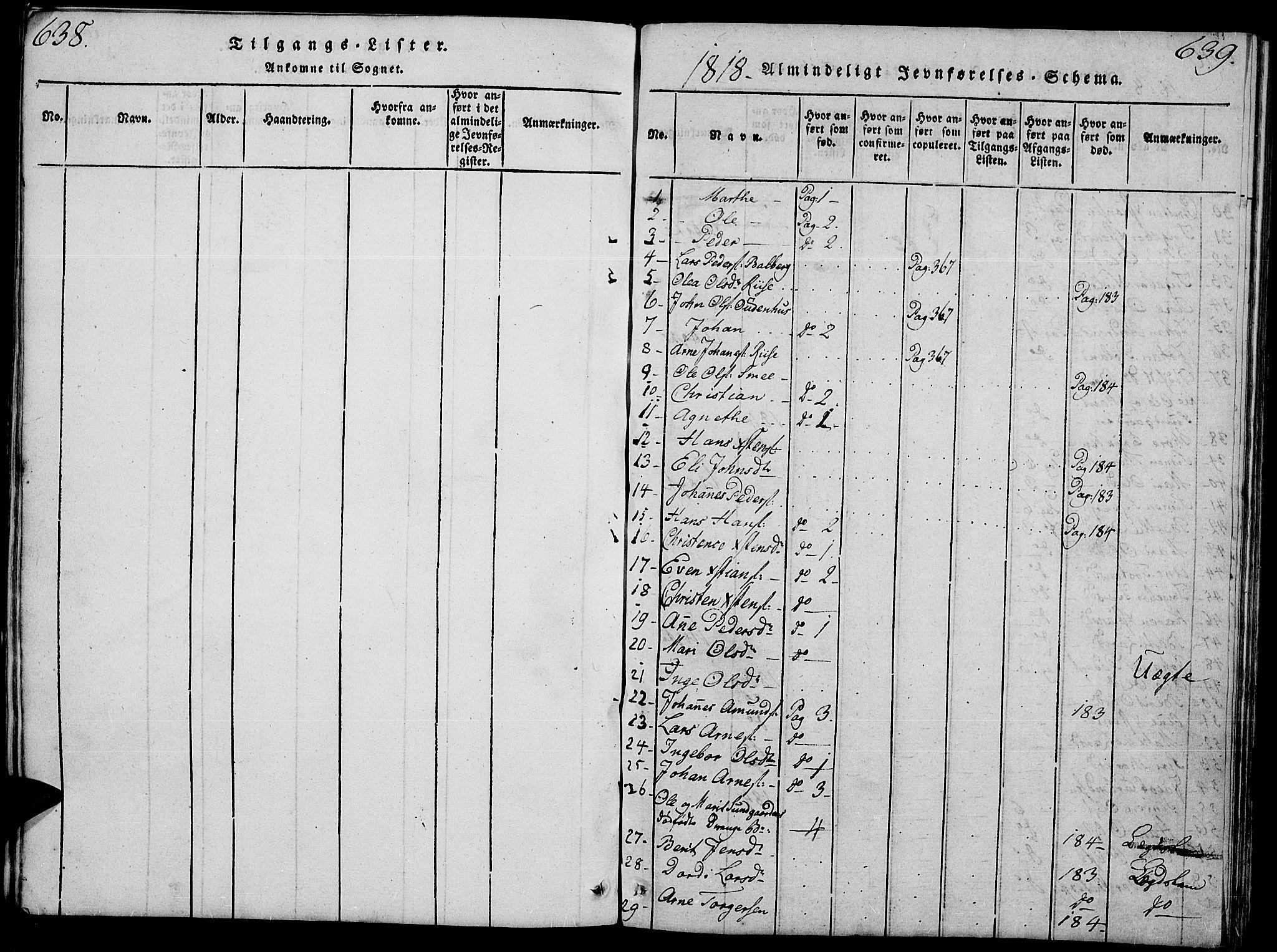 SAH, Fåberg prestekontor, Klokkerbok nr. 4, 1818-1837, s. 638-639