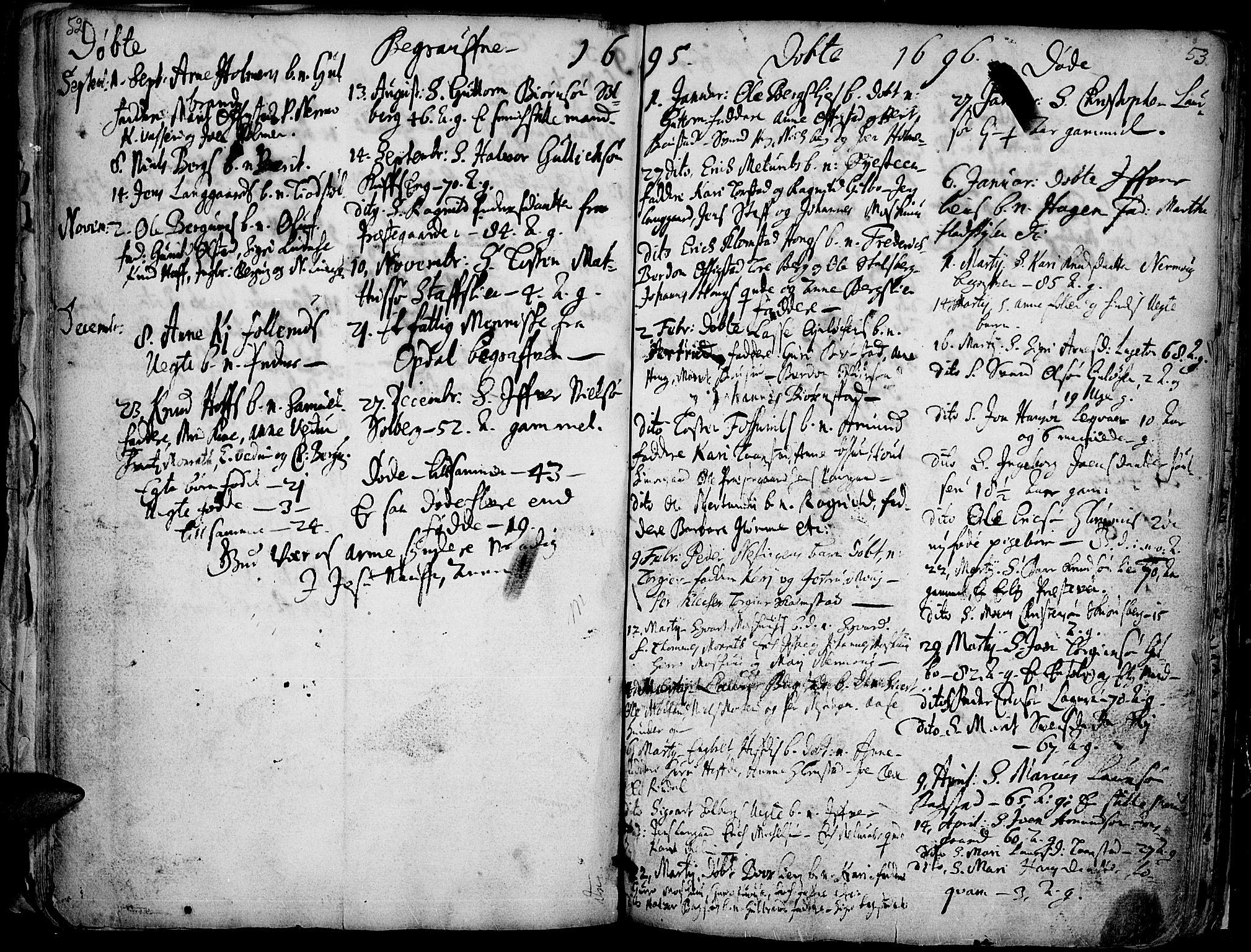 SAH, Øyer prestekontor, Ministerialbok nr. 1, 1671-1727, s. 52-53