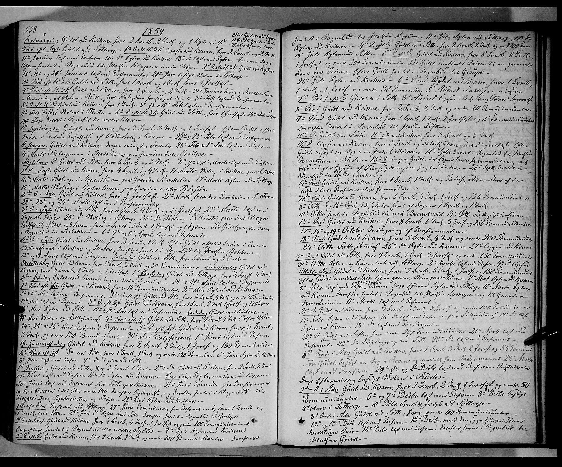 SAH, Nord-Fron prestekontor, Ministerialbok nr. 1, 1851-1864, s. 508