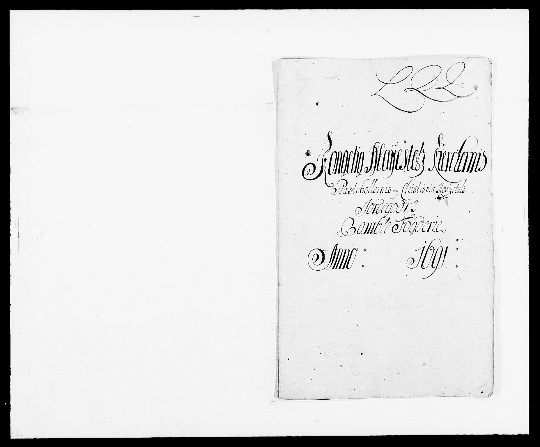 RA, Rentekammeret inntil 1814, Reviderte regnskaper, Fogderegnskap, R34/L2051: Fogderegnskap Bamble, 1688-1691, s. 295