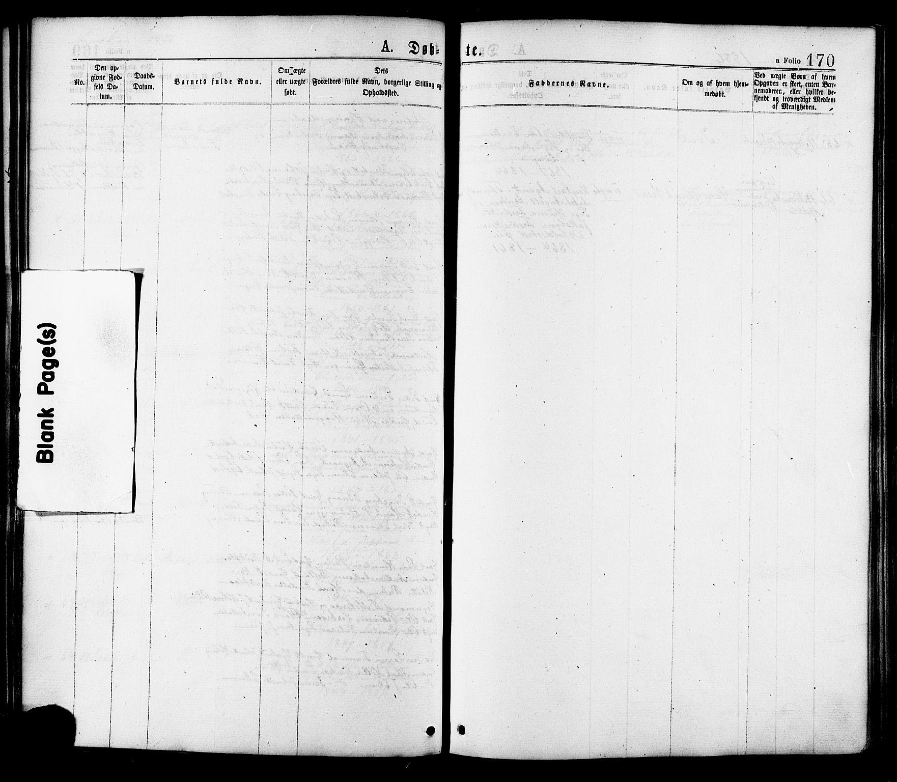 SAT, Ministerialprotokoller, klokkerbøker og fødselsregistre - Sør-Trøndelag, 691/L1079: Ministerialbok nr. 691A11, 1873-1886, s. 170
