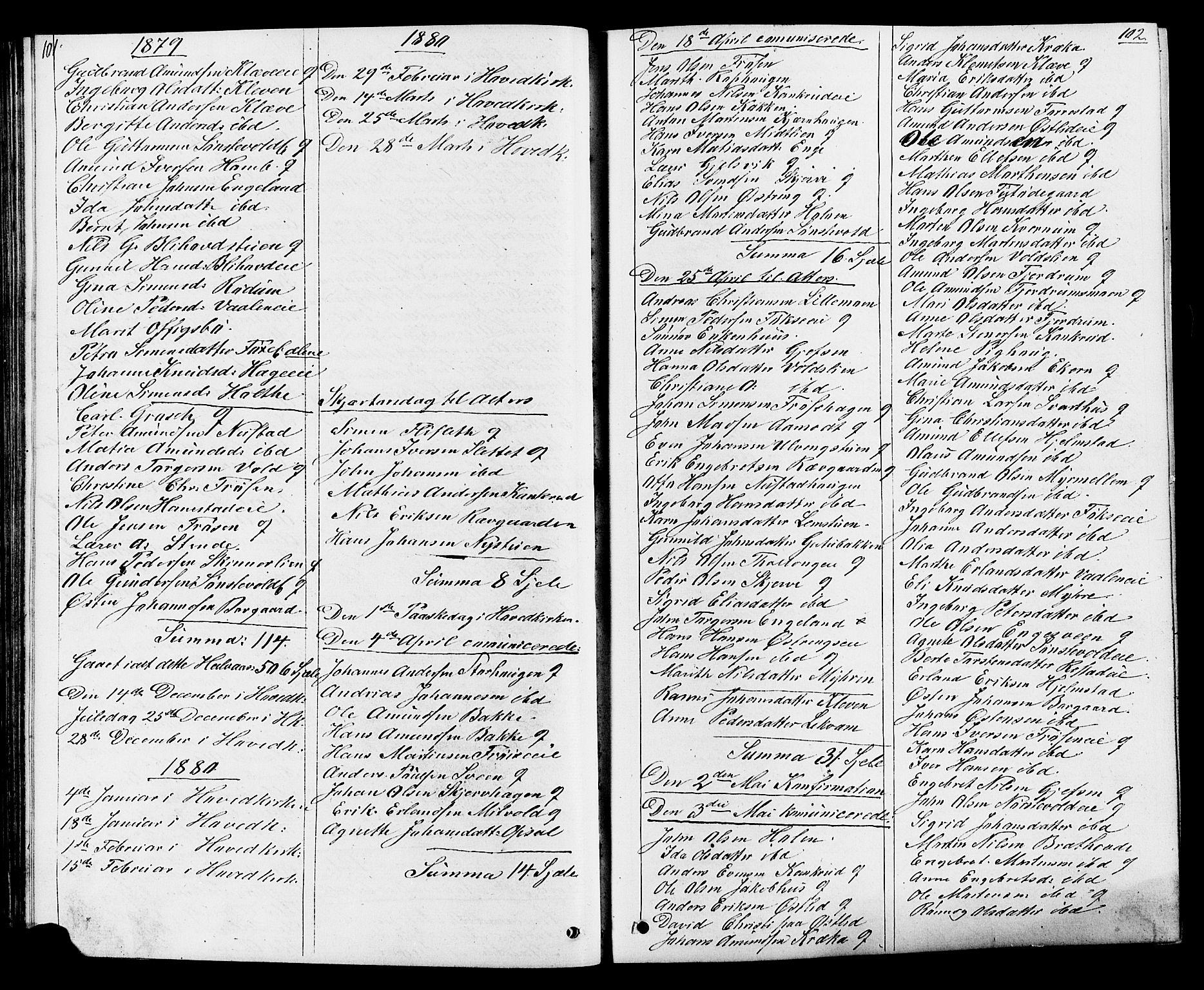 SAH, Østre Gausdal prestekontor, Klokkerbok nr. 1, 1863-1893, s. 101-102