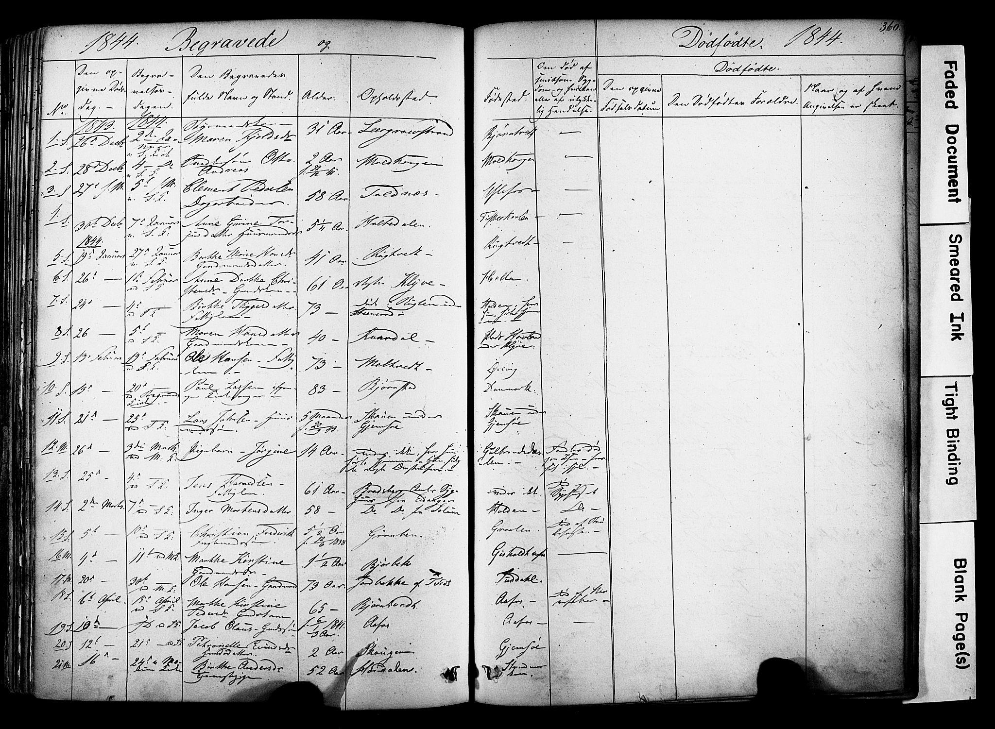 SAKO, Solum kirkebøker, F/Fa/L0006: Ministerialbok nr. I 6, 1844-1855, s. 360