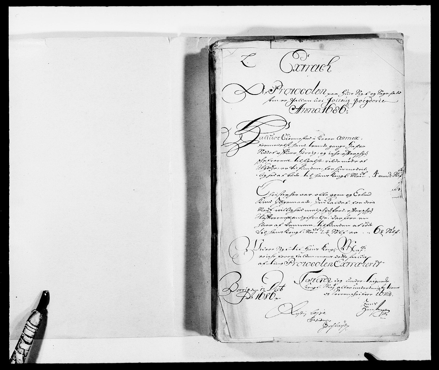 RA, Rentekammeret inntil 1814, Reviderte regnskaper, Fogderegnskap, R09/L0433: Fogderegnskap Follo, 1685-1686, s. 244