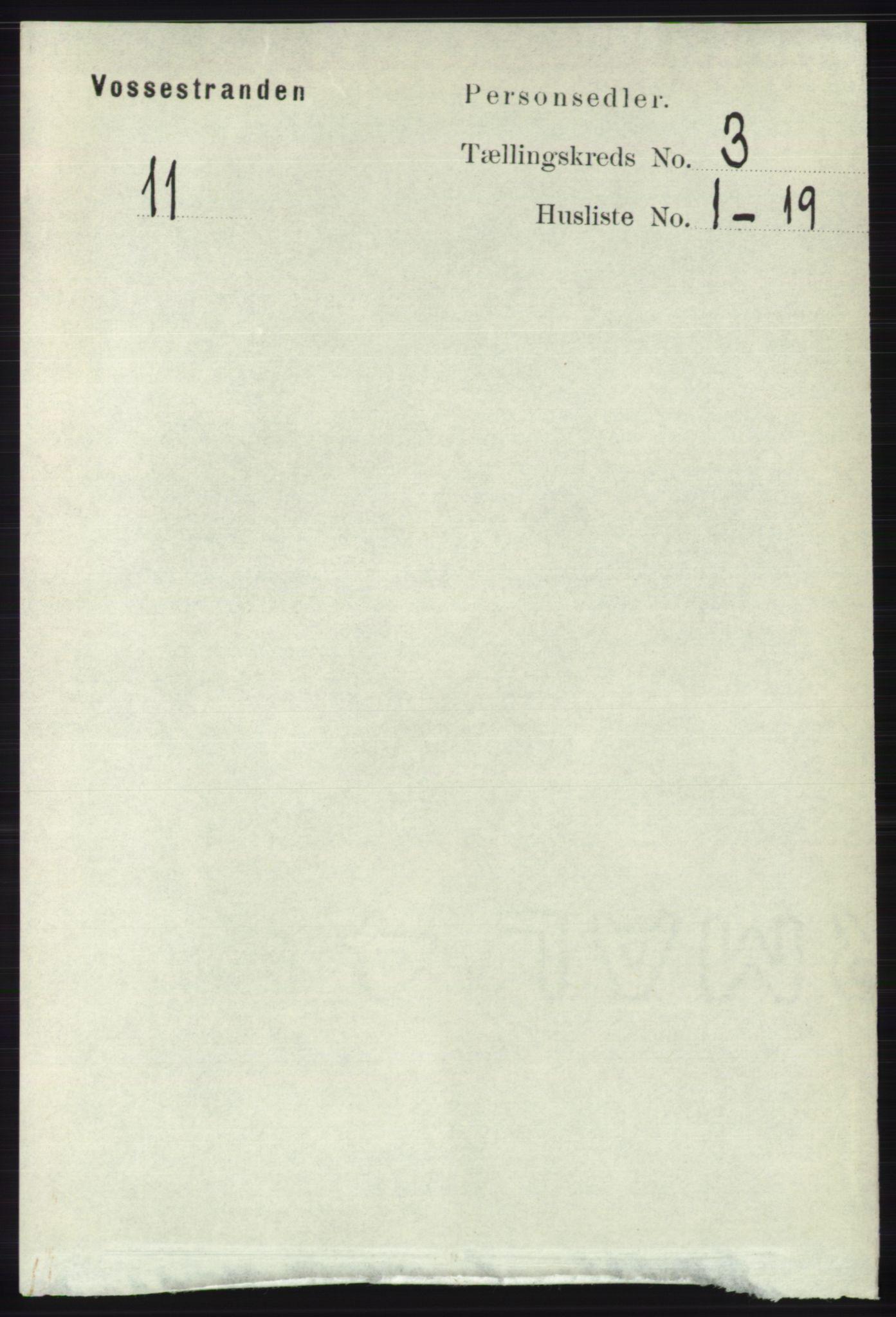 RA, Folketelling 1891 for 1236 Vossestrand herred, 1891, s. 1240
