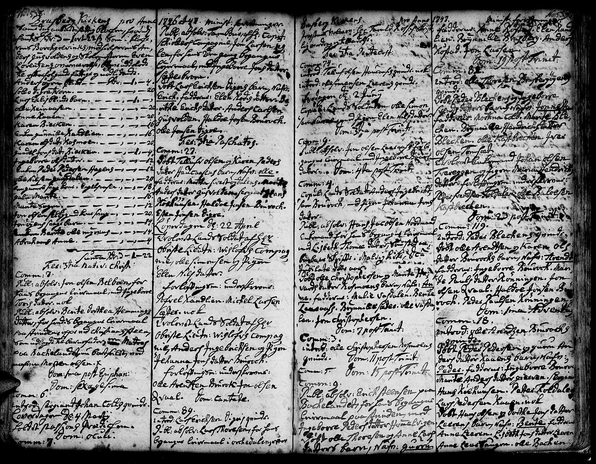 SAT, Ministerialprotokoller, klokkerbøker og fødselsregistre - Sør-Trøndelag, 606/L0278: Ministerialbok nr. 606A01 /4, 1727-1780, s. 538-539