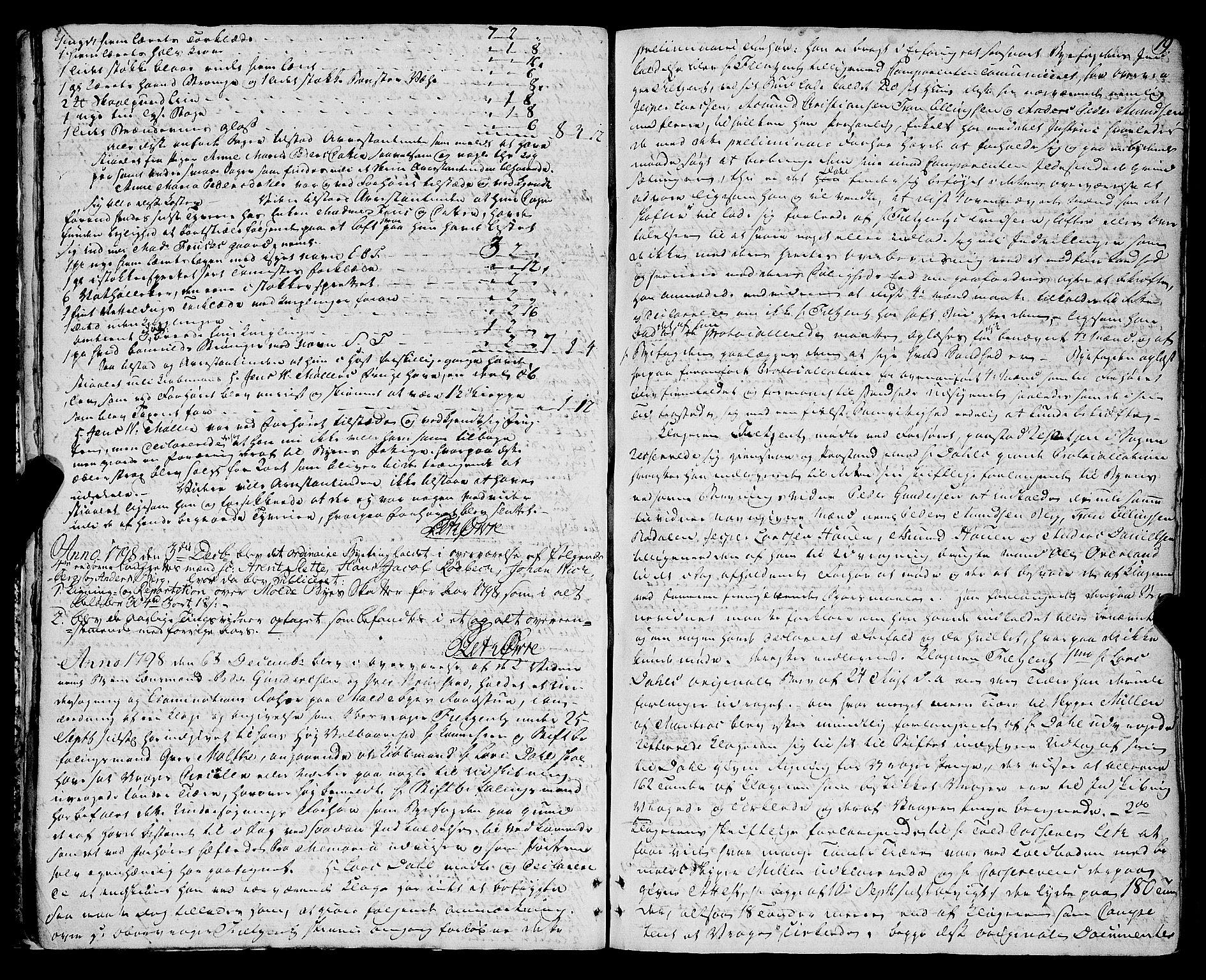 SAT, Molde byfogd, 1/1A/L0002: Justisprotokoll, 1797-1831, s. 18b-19a