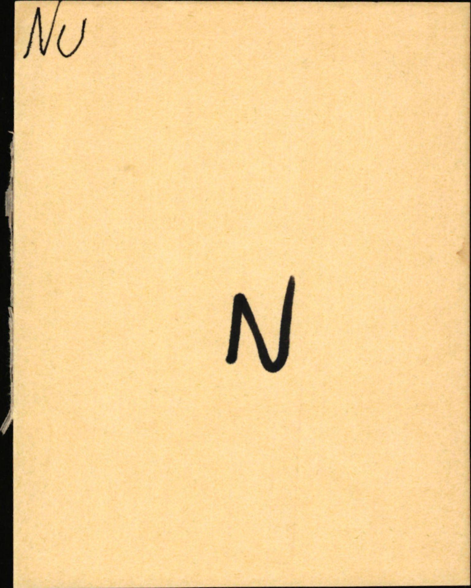 SAB, Statens vegvesen, Hordaland vegkontor, Ha/L0041: R-eierkort N-O, 1920-1971, s. 1