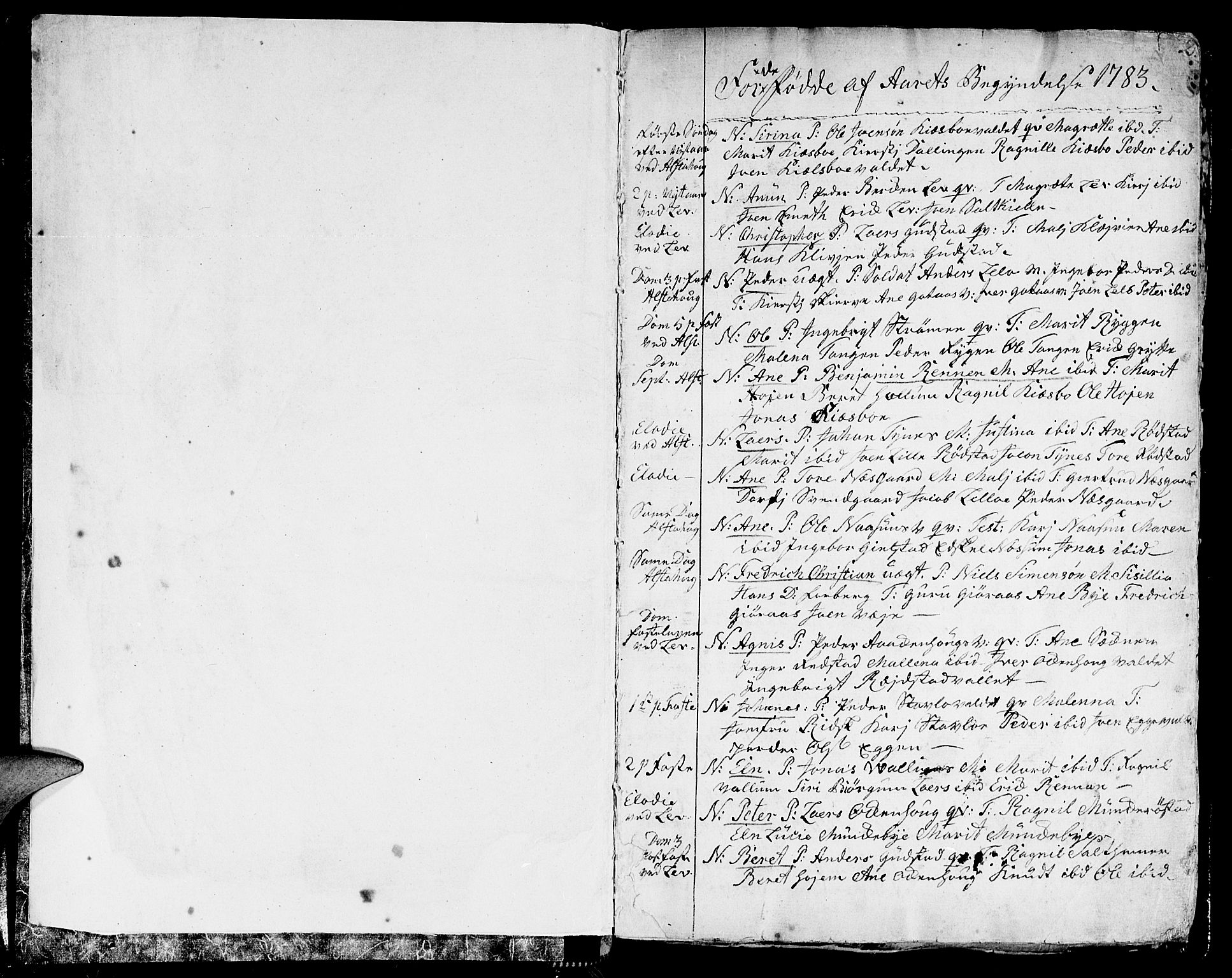 SAT, Ministerialprotokoller, klokkerbøker og fødselsregistre - Nord-Trøndelag, 717/L0142: Ministerialbok nr. 717A02 /1, 1783-1809, s. 2